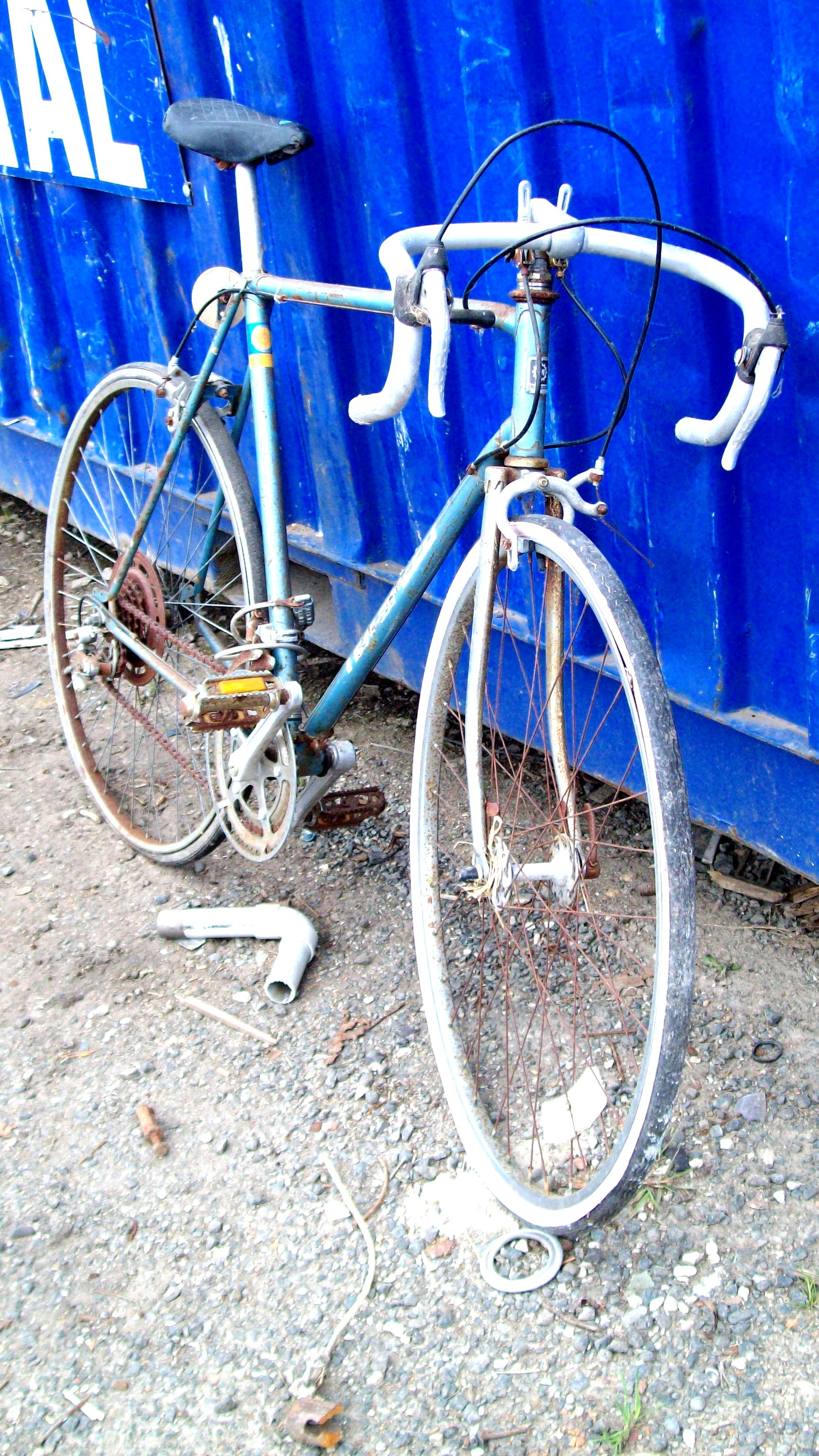 Decayed morrison blue ten speed bike photo