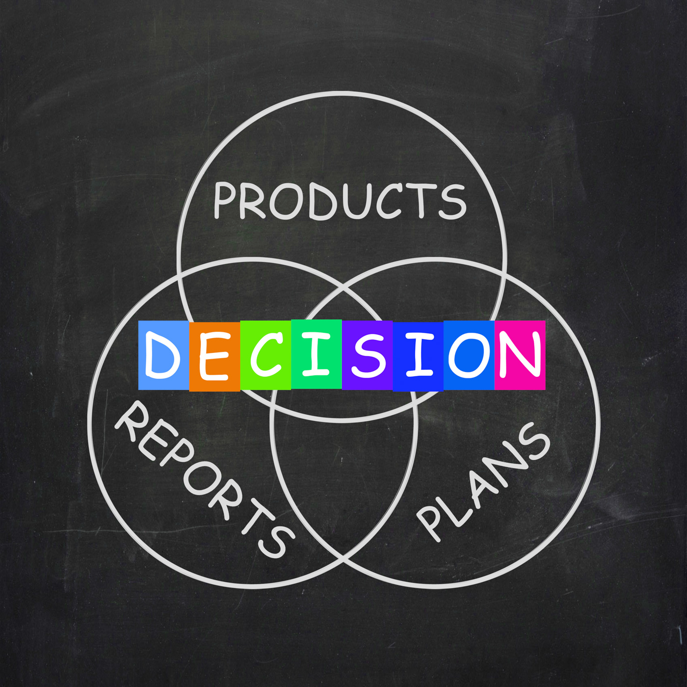 Deciding Means Decision on Plans Reports and Products, Choice, Plan, Uncertain, Reports, HQ Photo