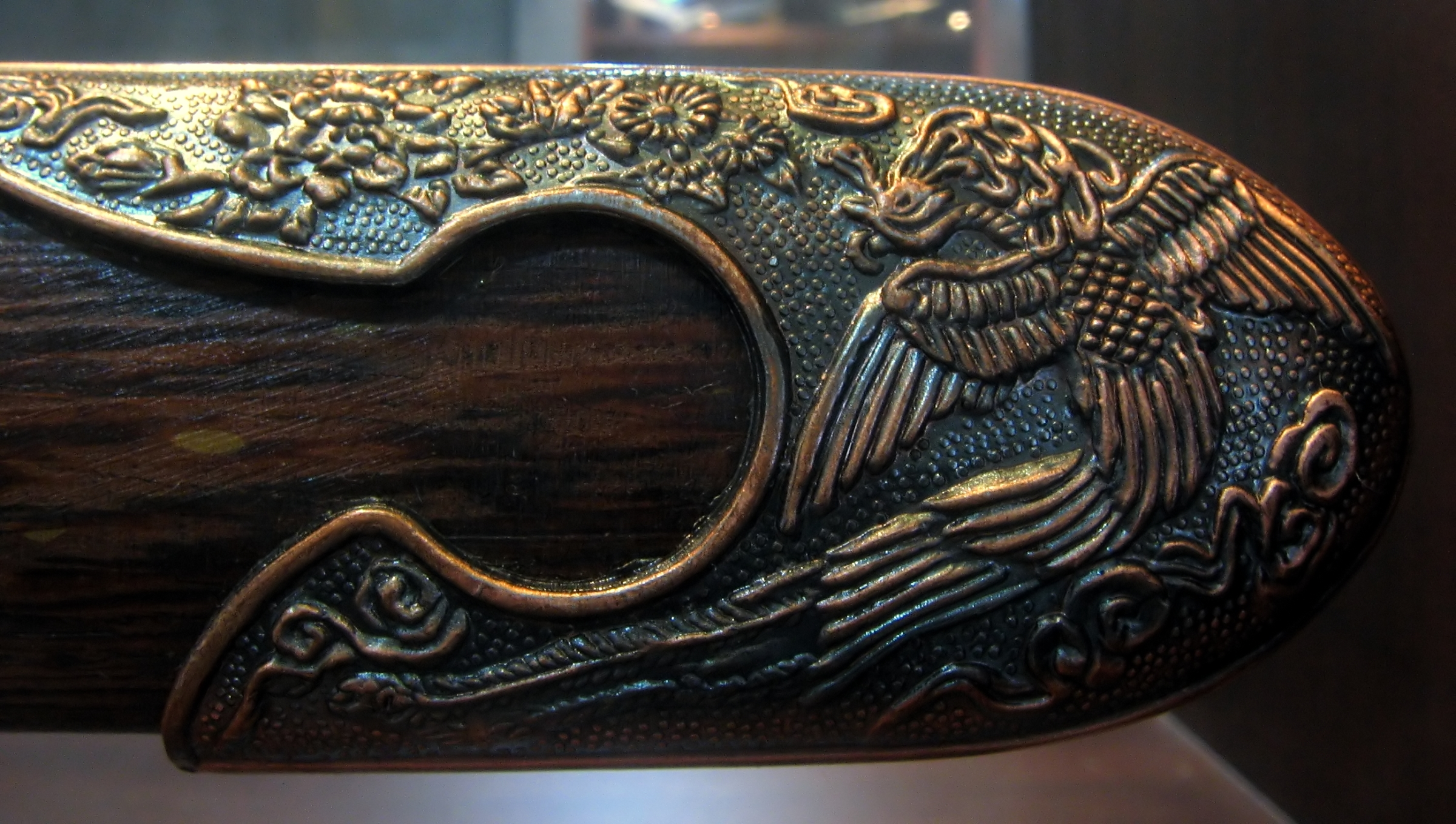 Decorated sheath of a sword photo