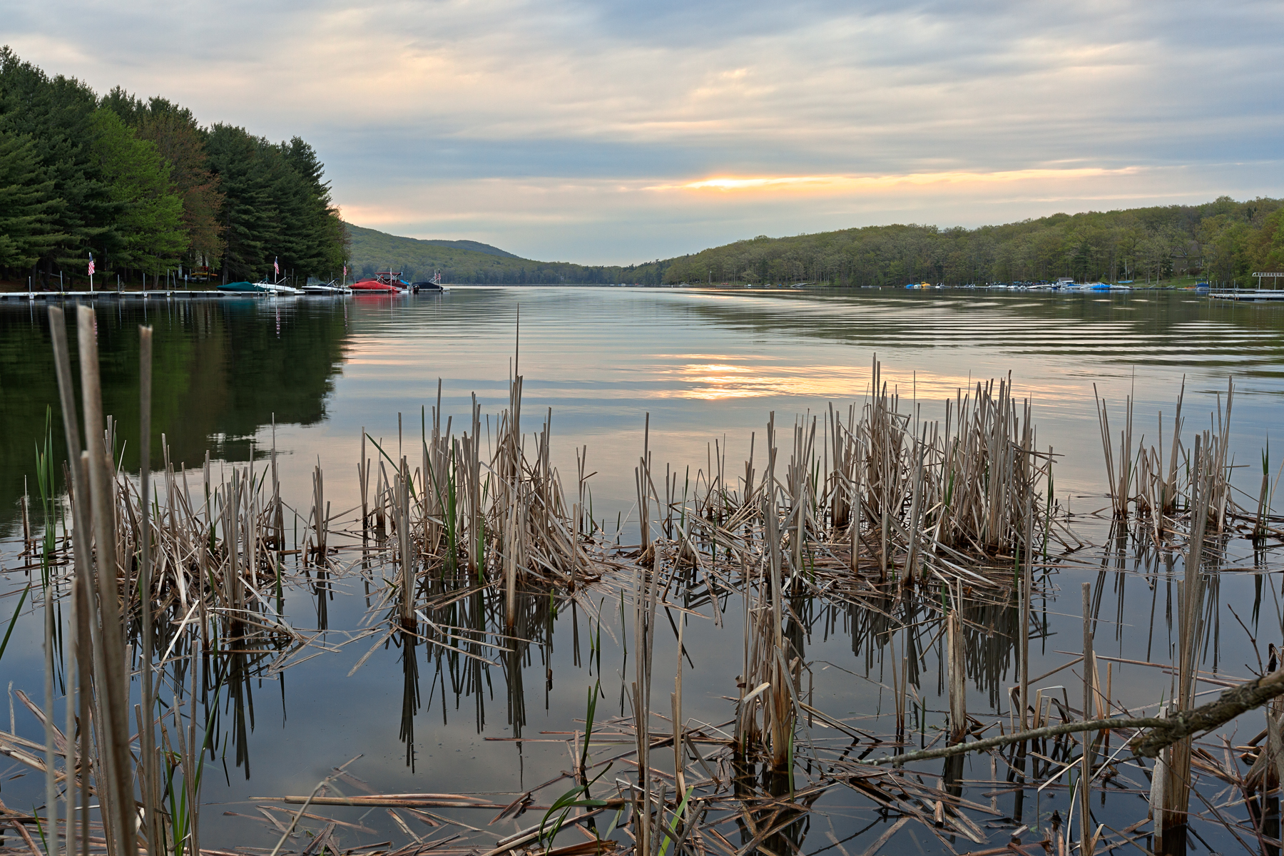Deep creek lake sunrise - hdr photo