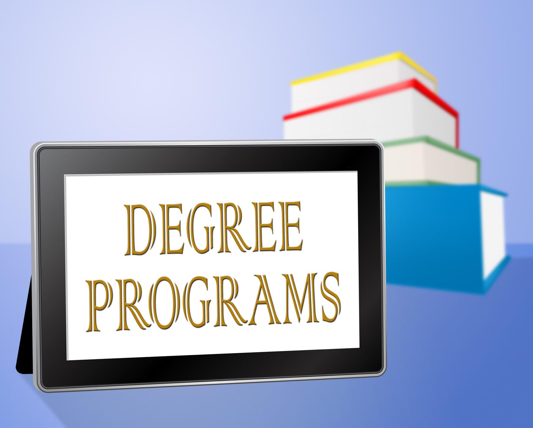 Degree programs represents books bachelors and internet photo