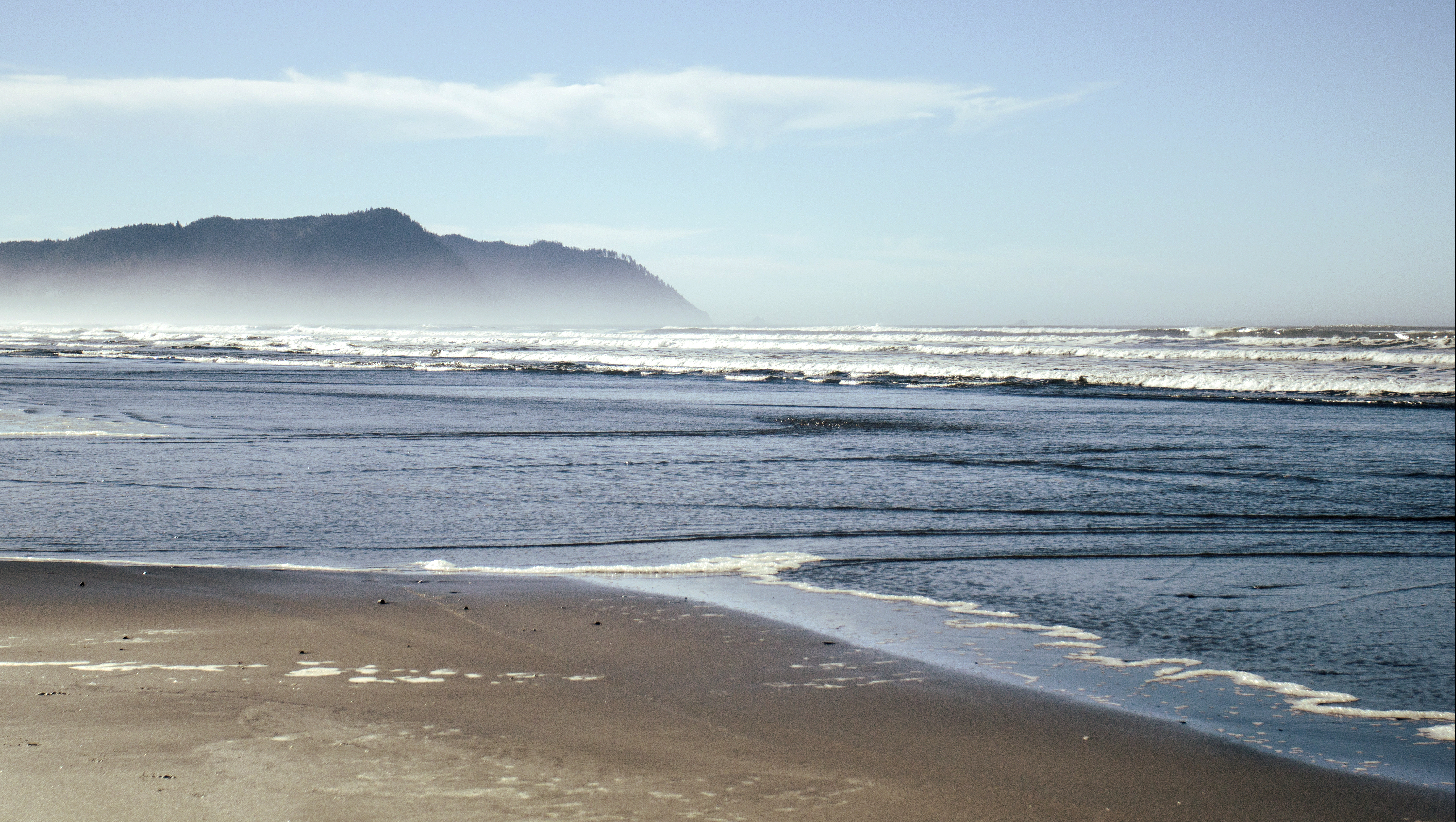Del Rey Beach, Oregon, Bay, Beach, Coast, Fog, HQ Photo