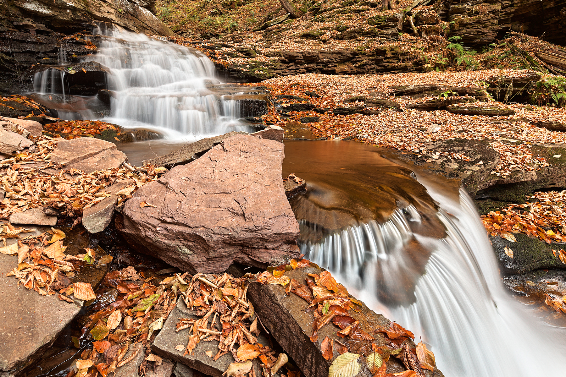 Delahican Falls - HDR, America, Pa, Rocky, Rocks, HQ Photo