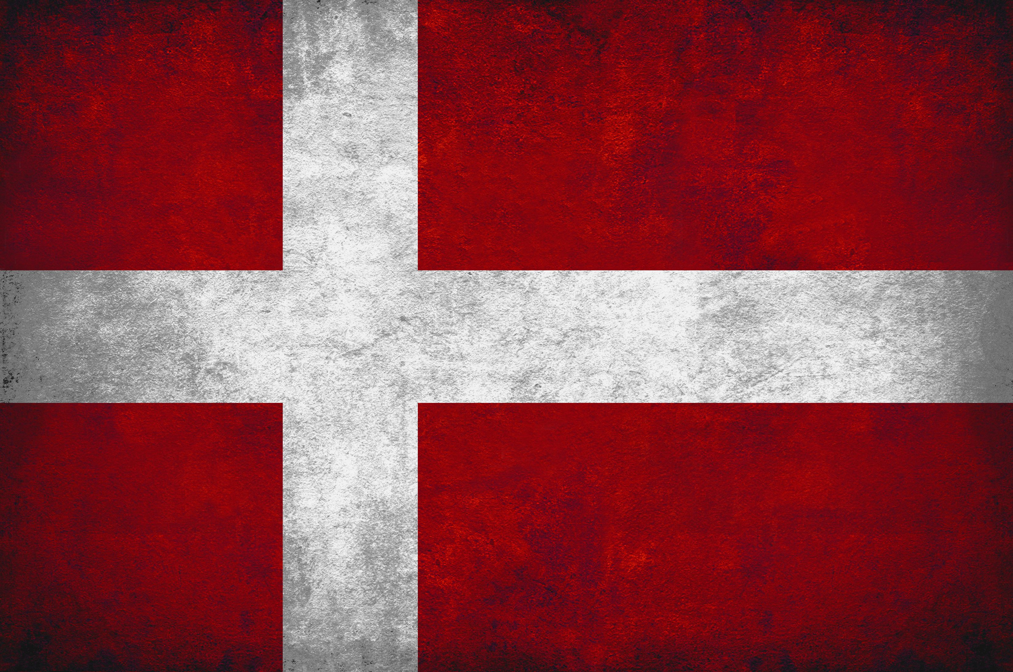 Denmark grunge flag photo