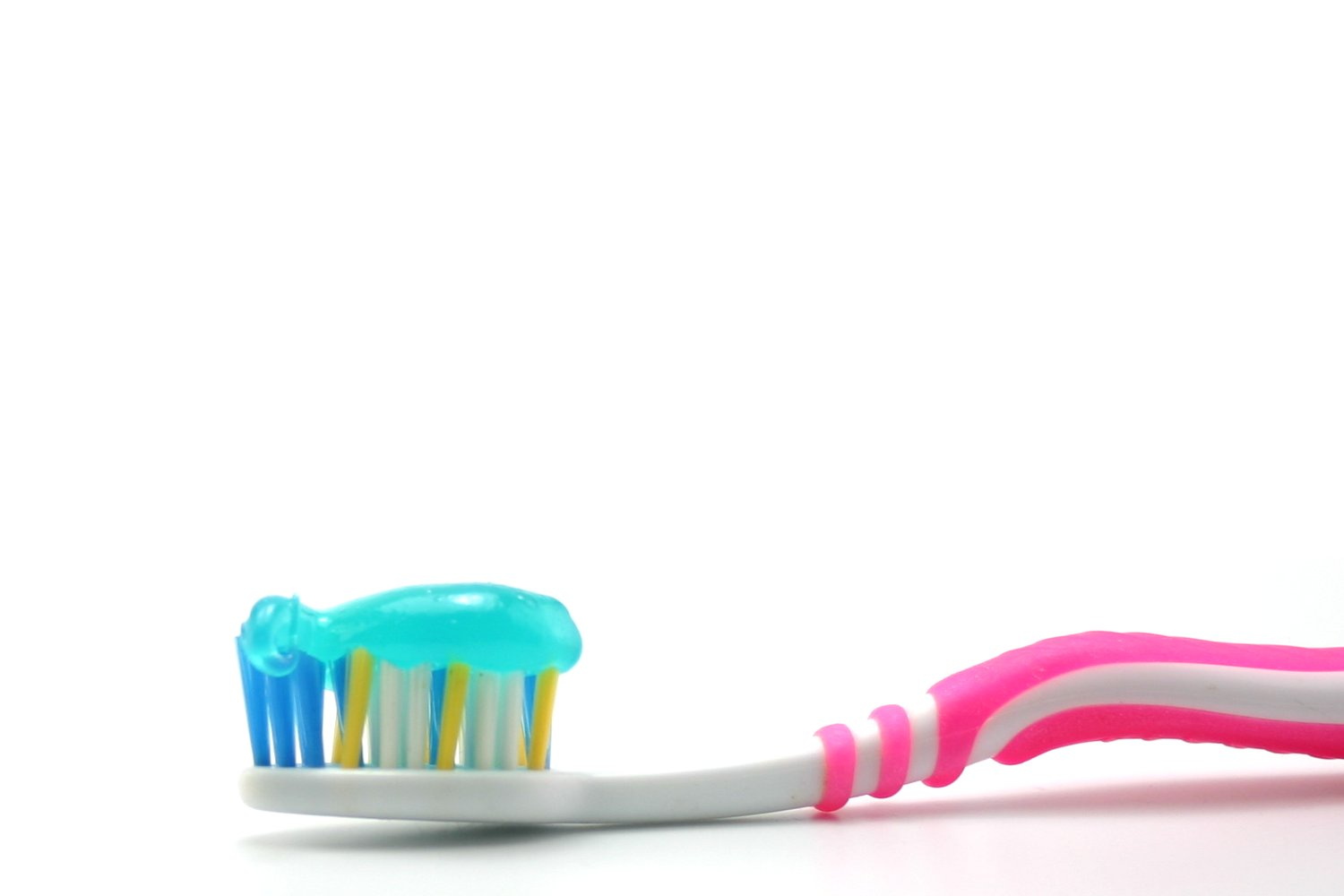 Dental brush and paste photo