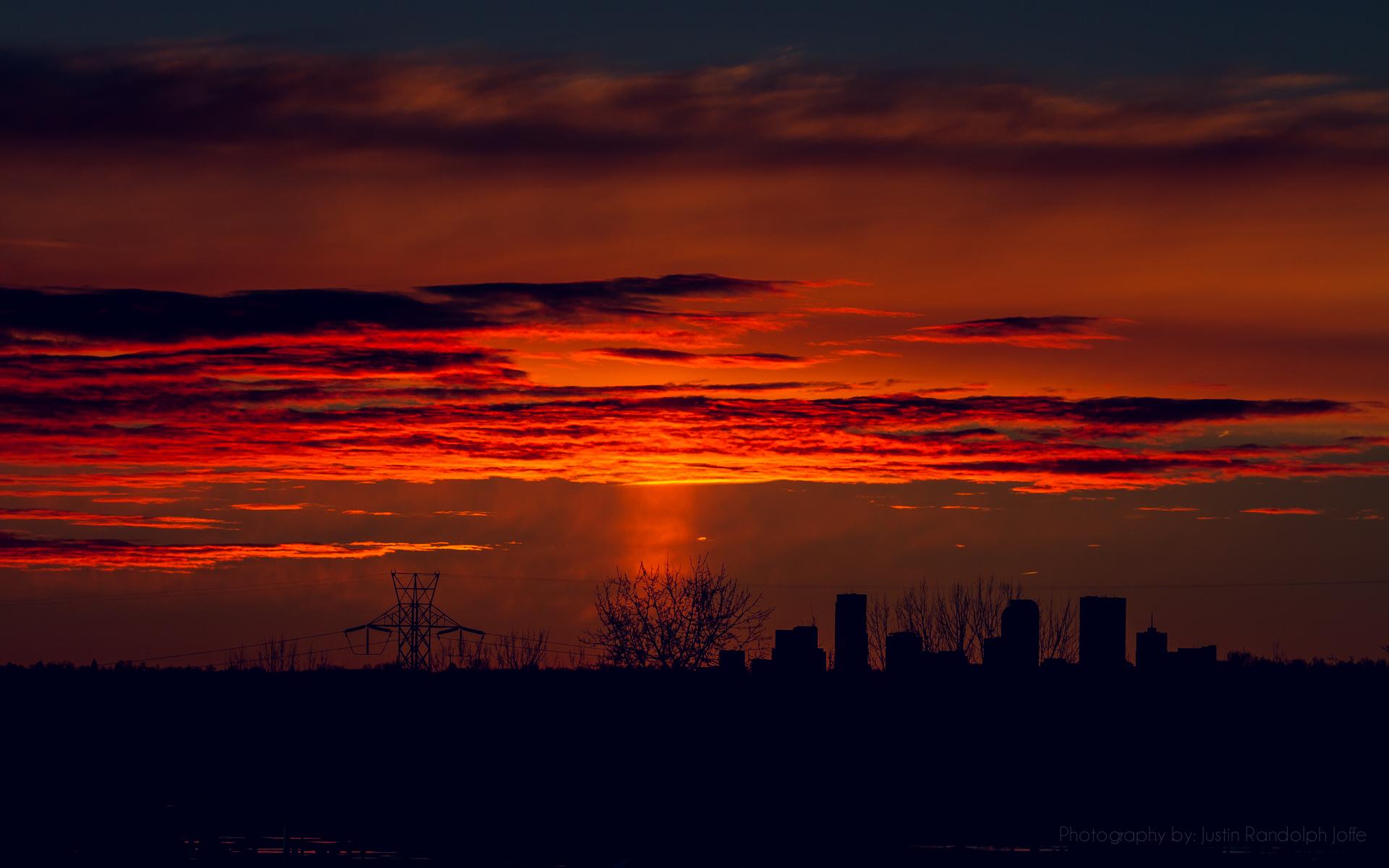 Denver, Colorado 6am Sunrise - Justin Randolph Joffe