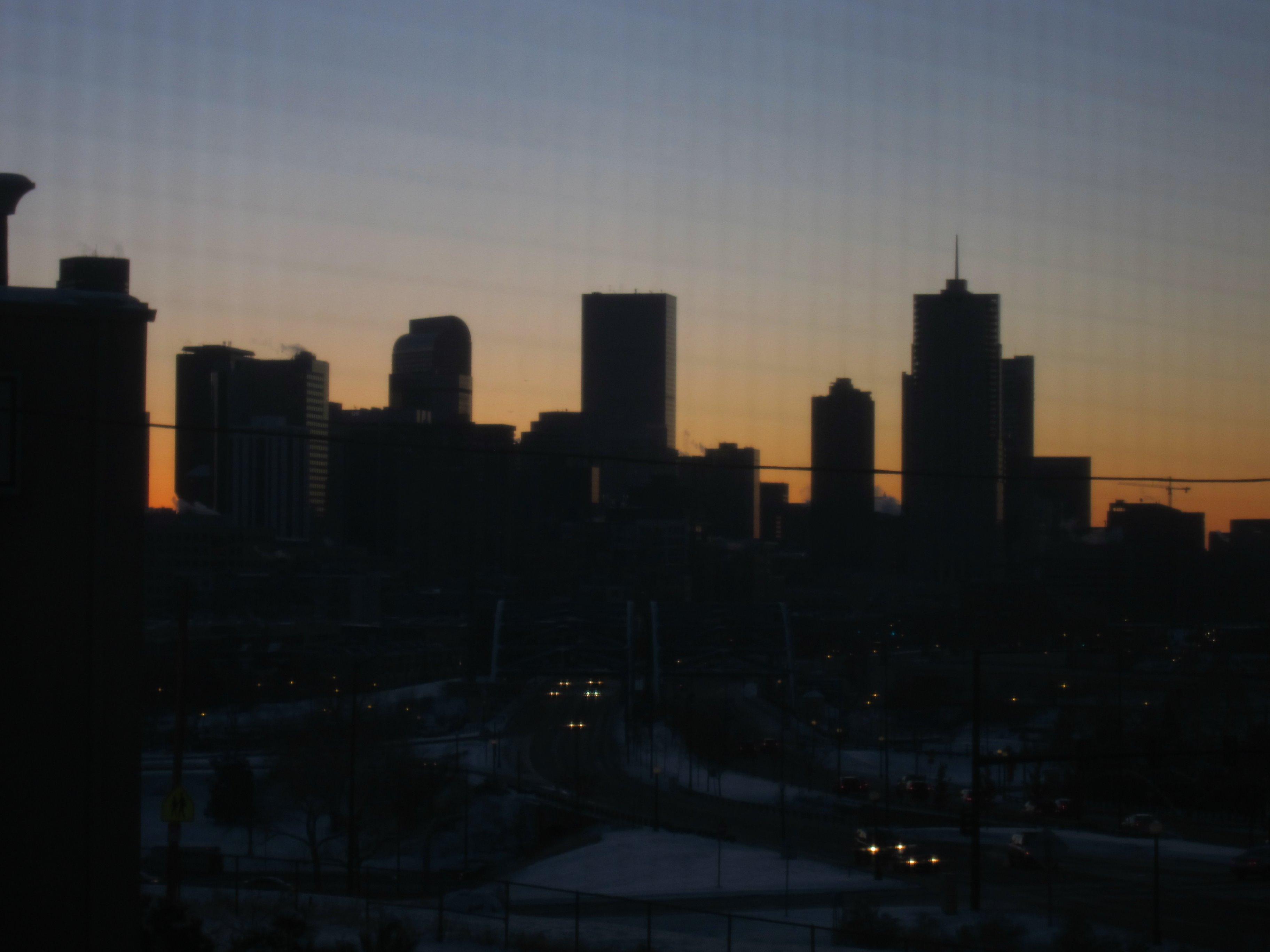Denver sunrise, Sunrise, Usa, Skyline, Dusk, HQ Photo