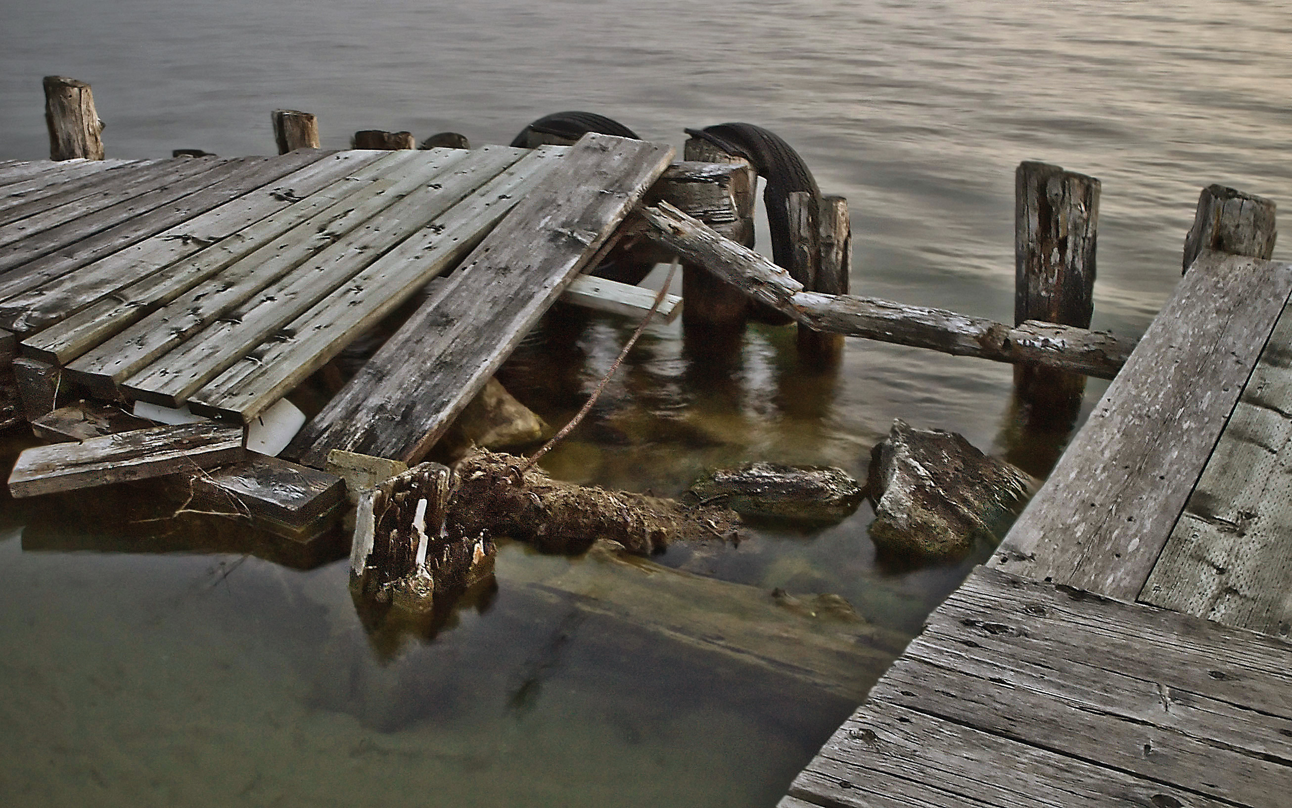 Derelict Pier, Broken, Damaged, Derelict, Dock, HQ Photo