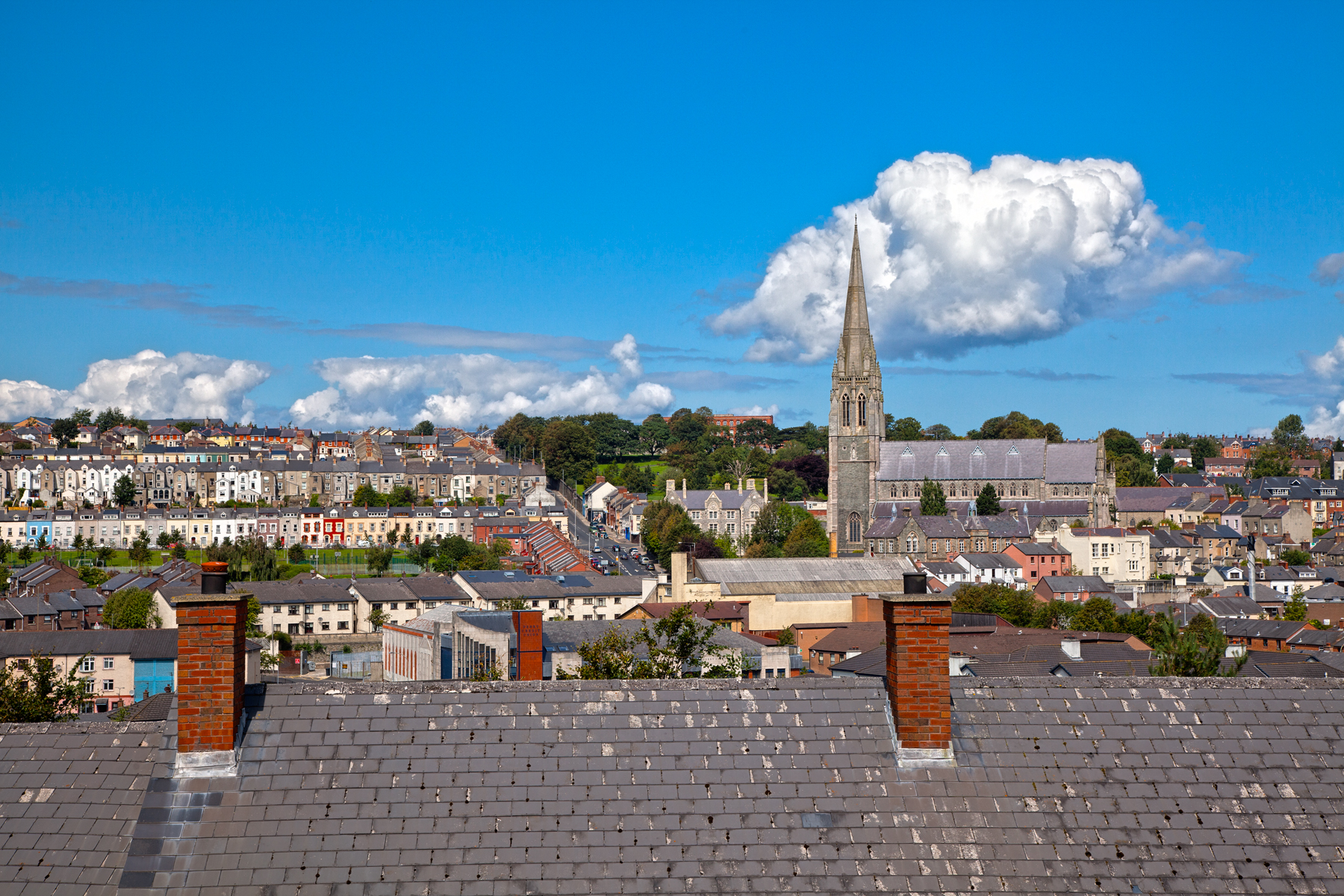 Derry Cityscape - HDR, Angle, Picture, Rooftop, Roofs, HQ Photo