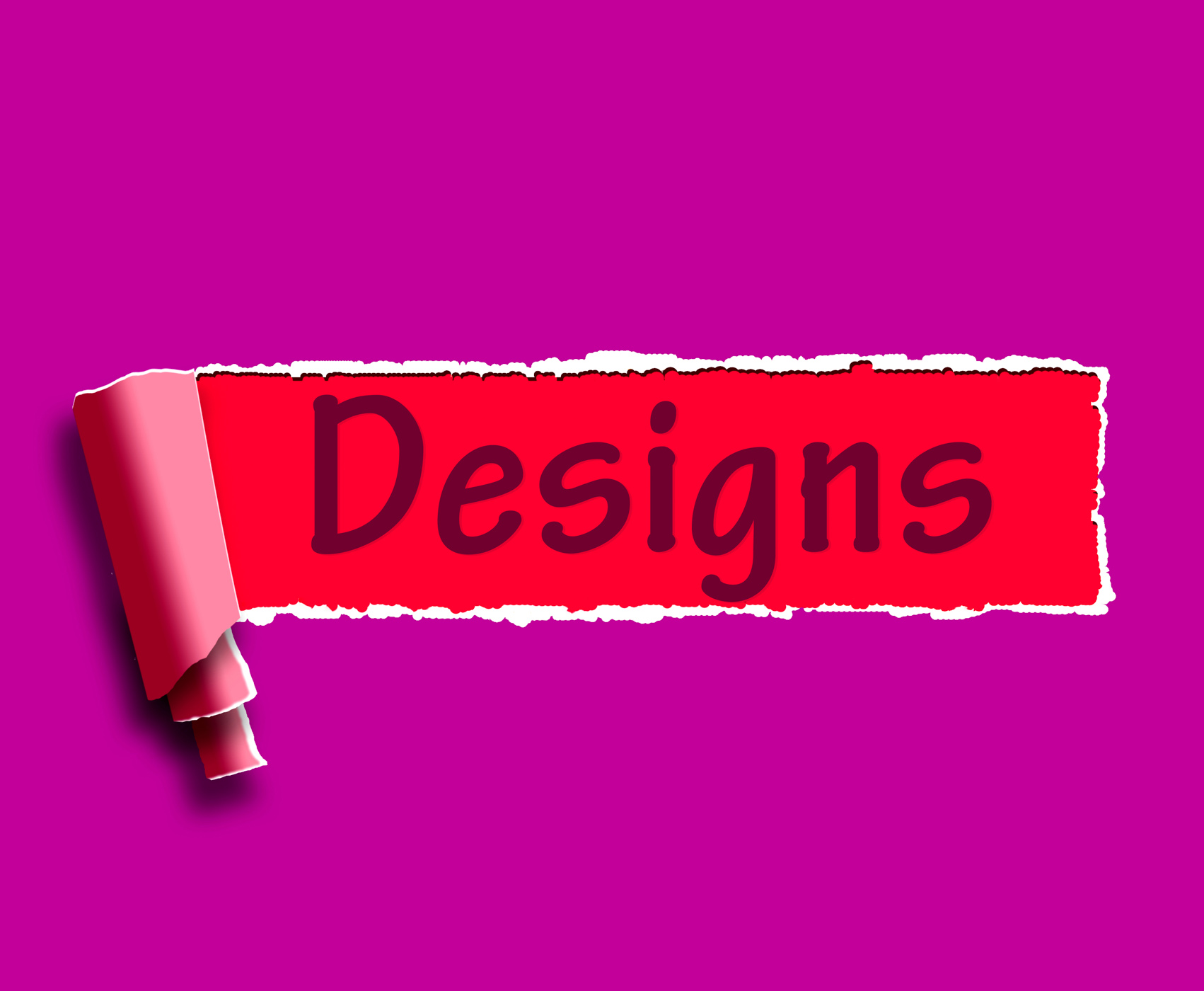 Designs word means web designing and planning photo