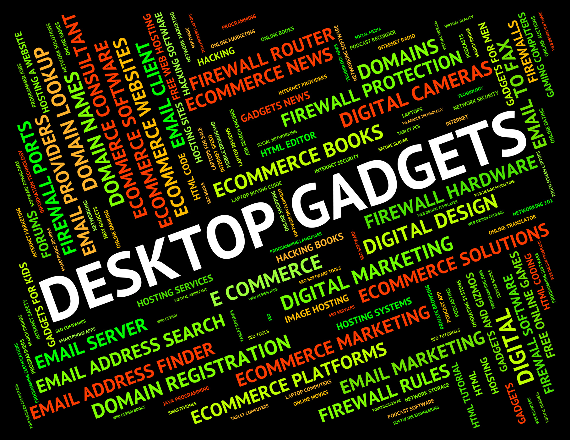 Desktop Gadgets Represents Mod Con And Appliance, Apparatus, Implements, Word, Widgets, HQ Photo