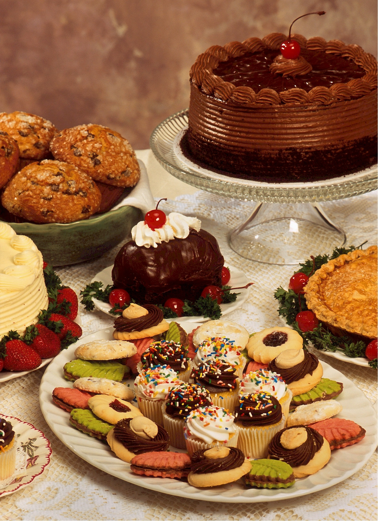 Dessert Table, Baked, Biscuit, Cookie, Dessert, HQ Photo