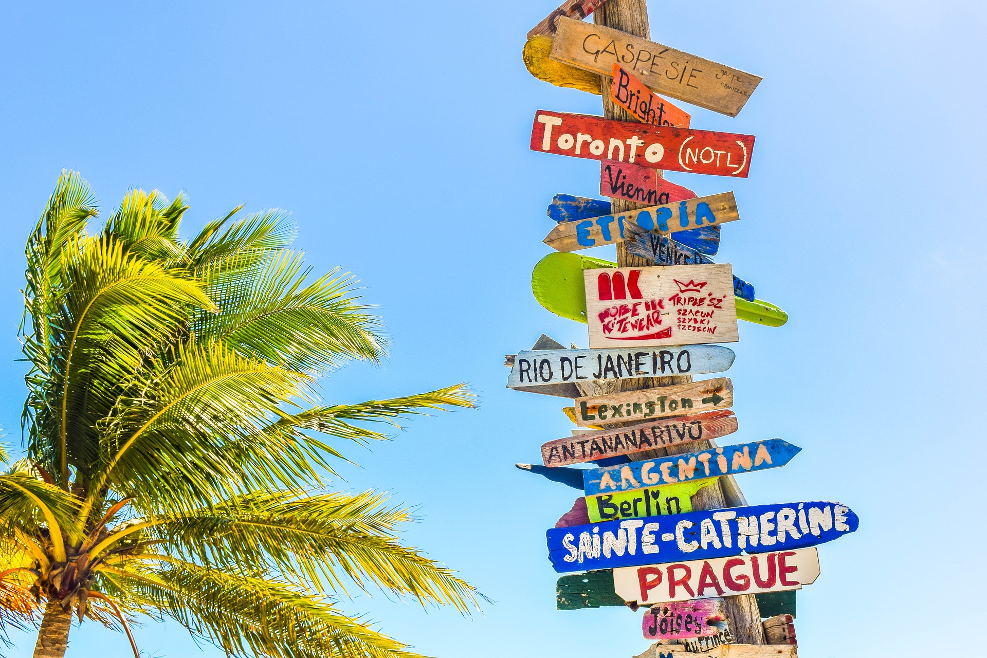 Destinations - Wooden Signs, Trip, Vacation, Wood, Wooden, HQ Photo
