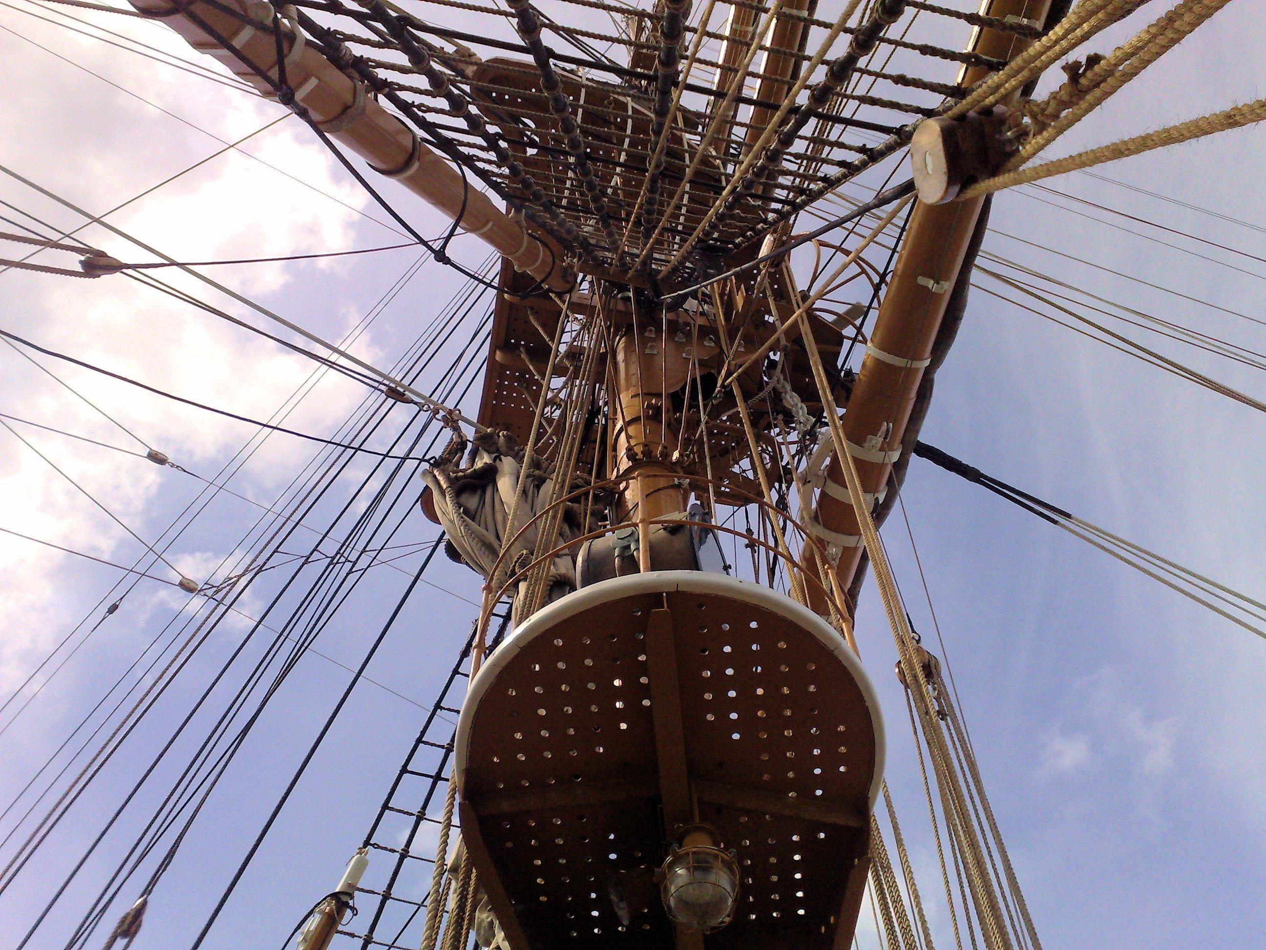 Detail on sailer photo