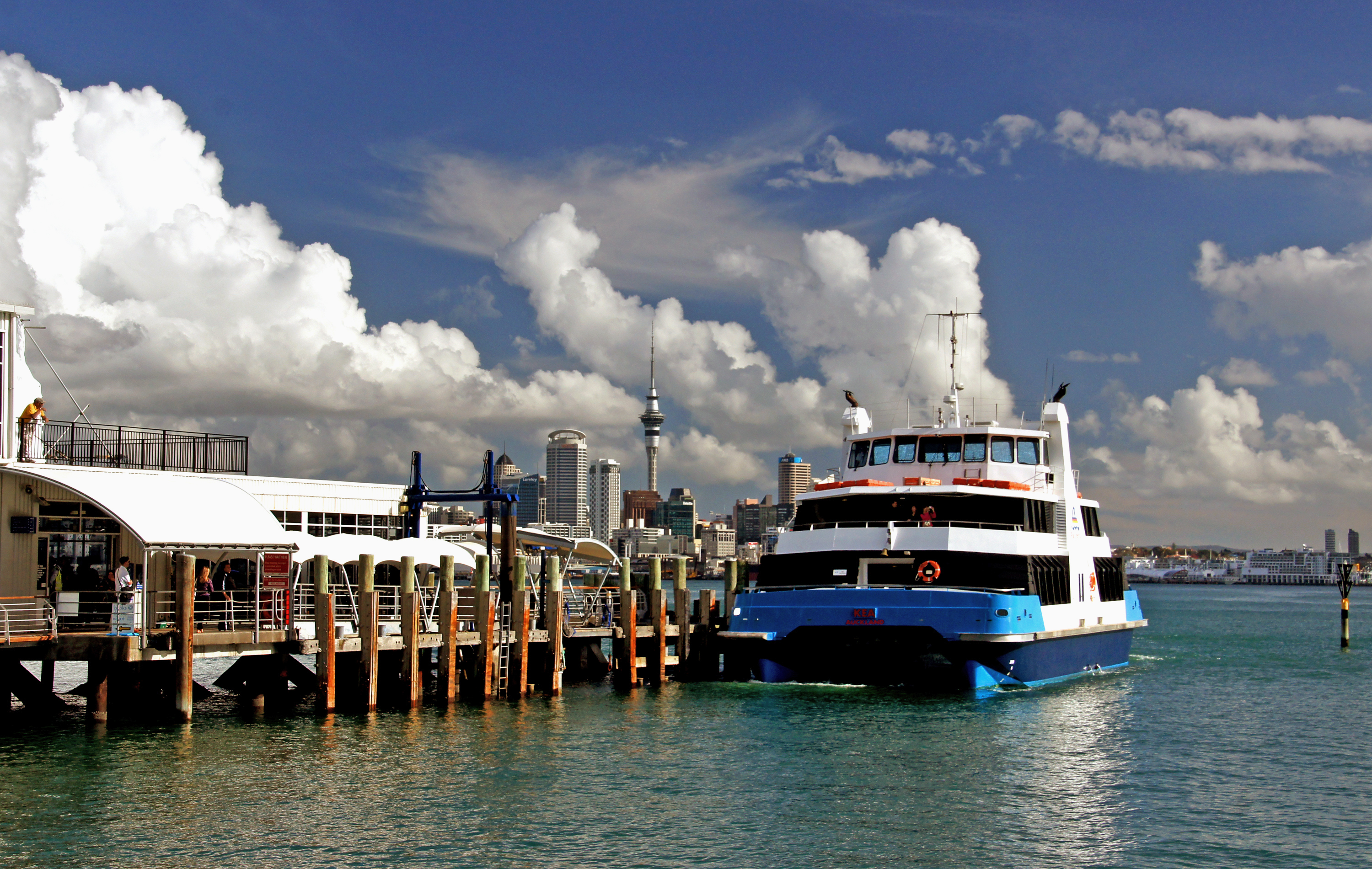 Devonport Ferry Auckland., Auckland, Free photos, Waitemata   Harbour, Sky, HQ Photo