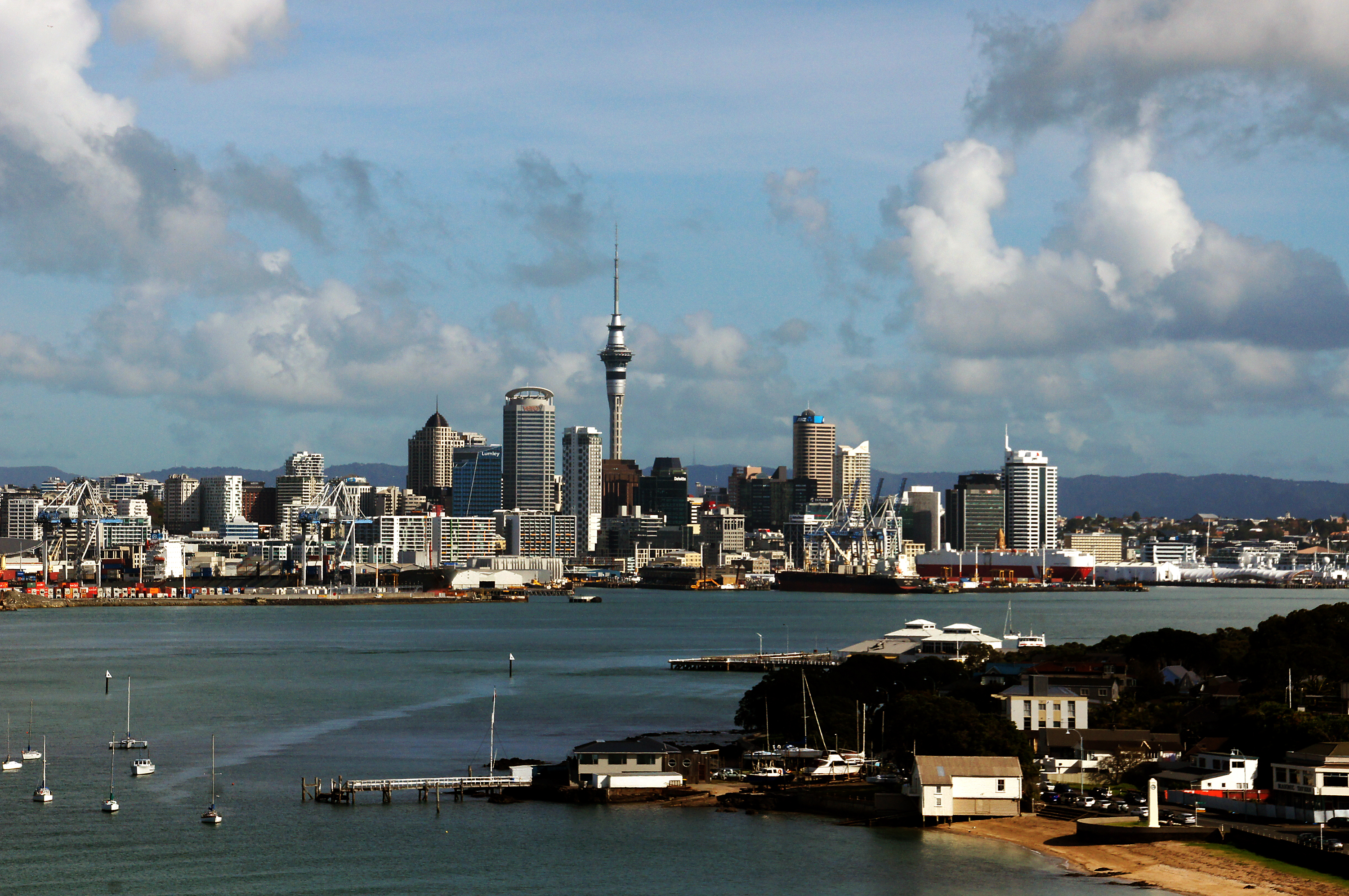 Devonport view of auckland city. photo