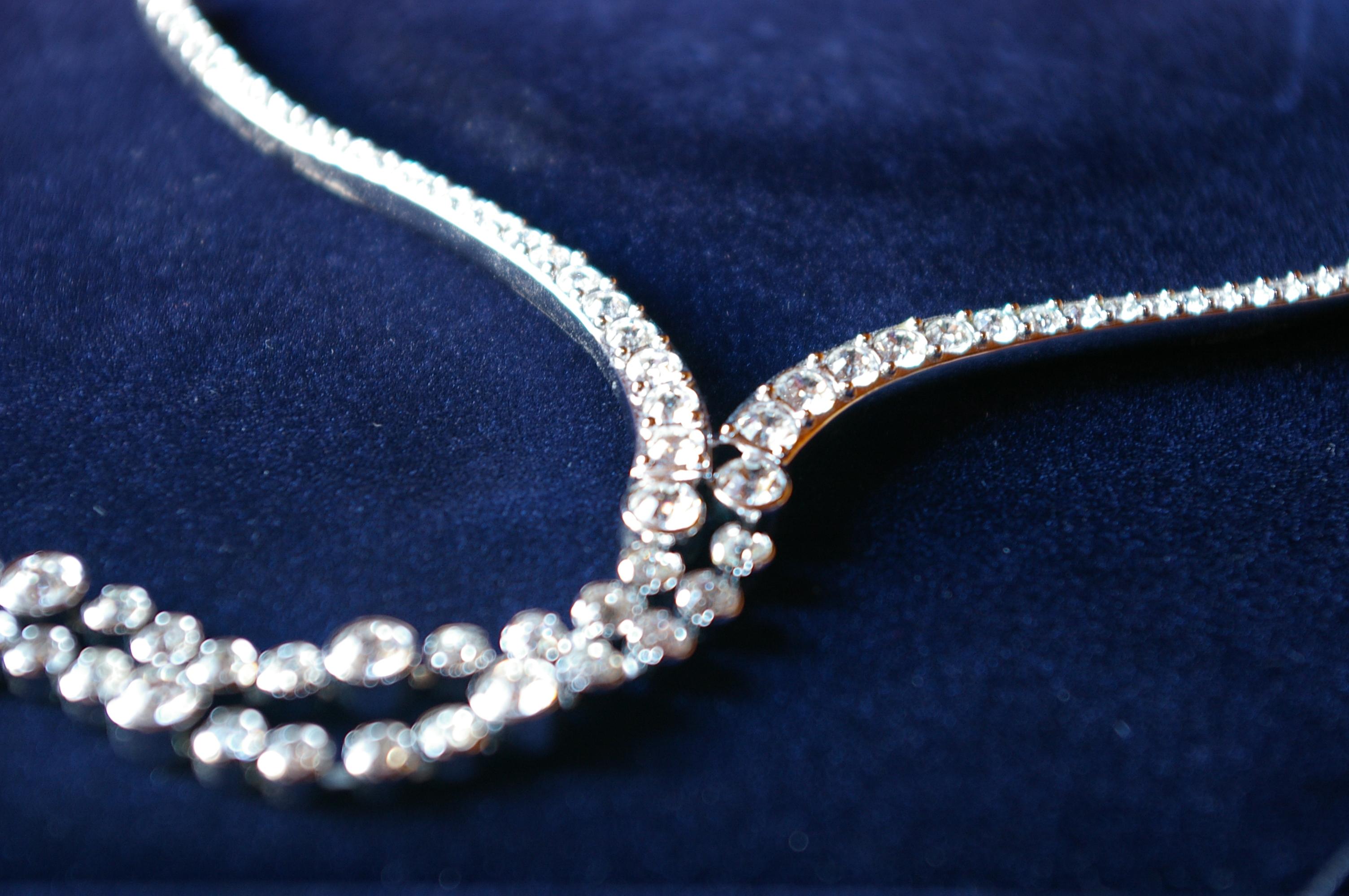 Diamond necklace, Beautiful, Beauty, Brilliant, Crystal, HQ Photo
