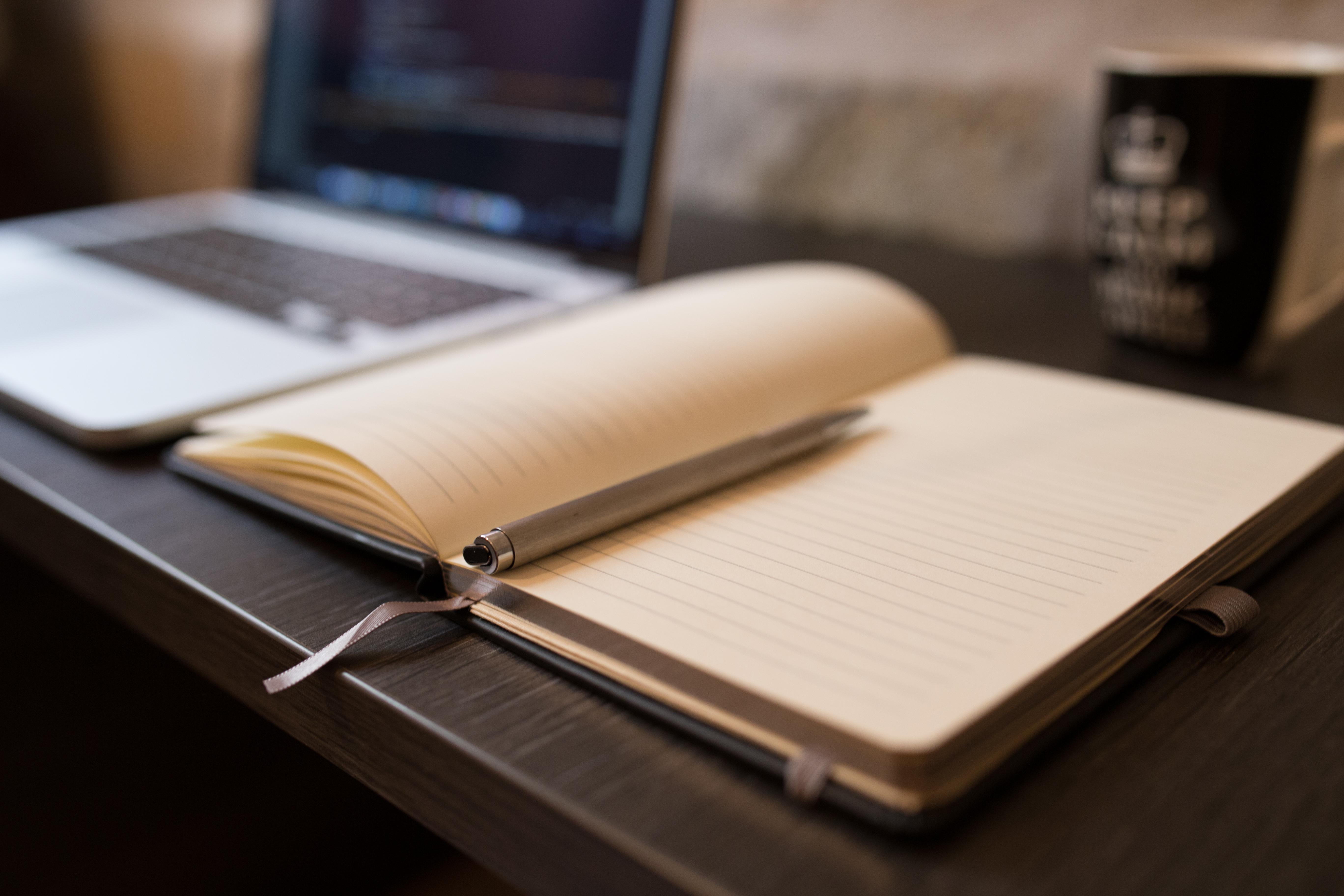 Diary, Coffee, Cup, Laptop, Mug, HQ Photo
