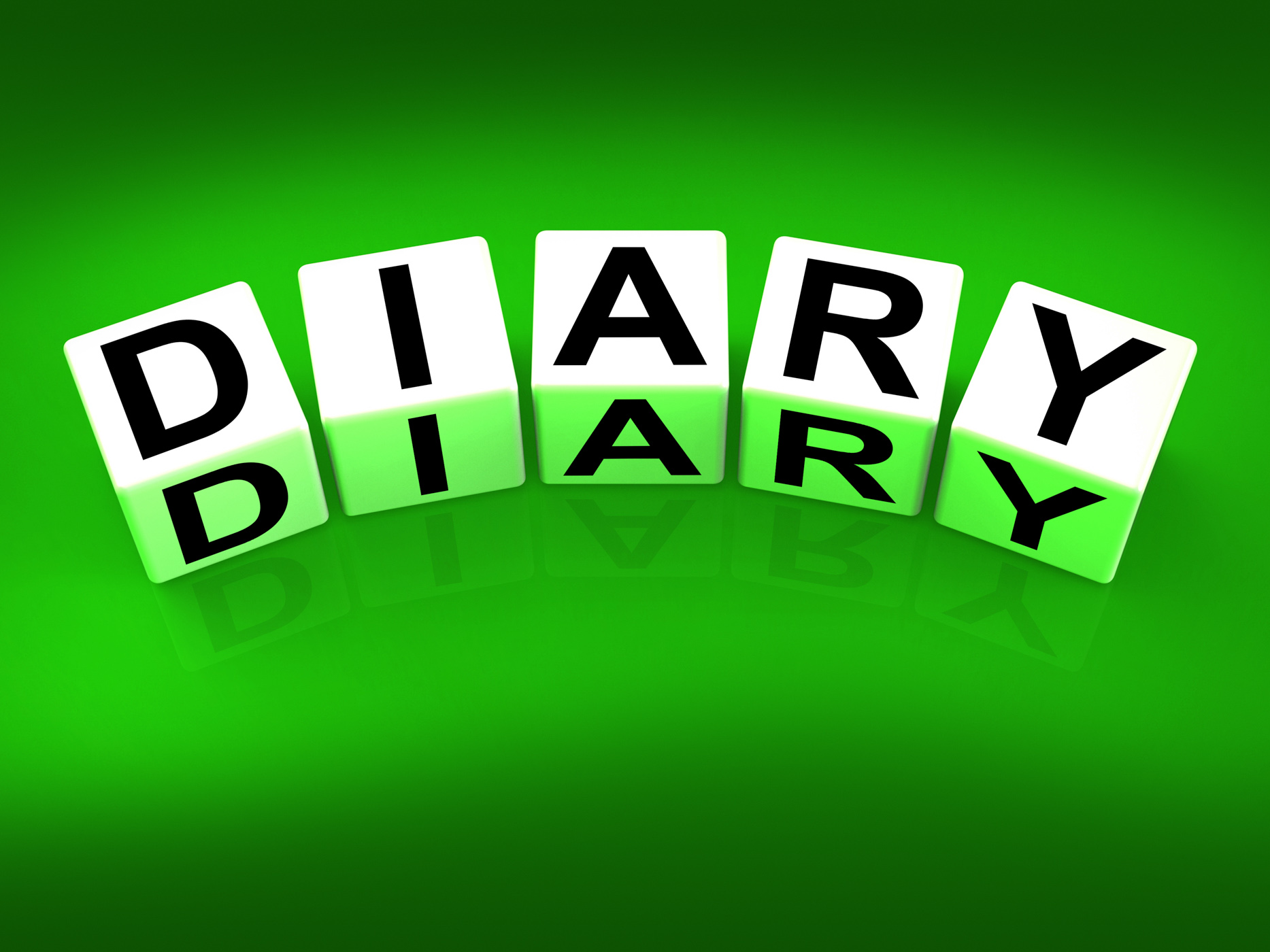 Diary blocks mean journal blog or autobiographical record photo