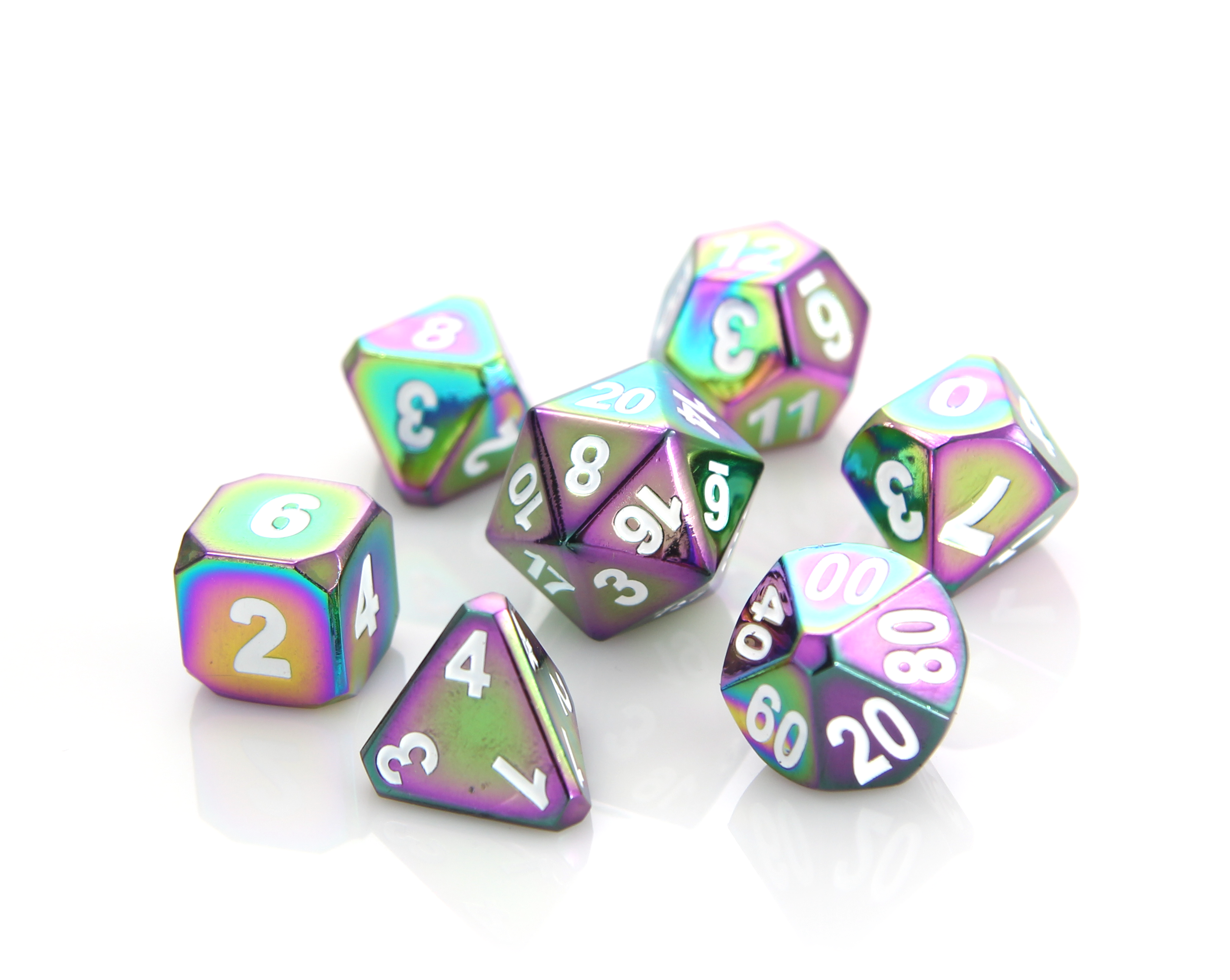 Rainbow | Die Hard Metal Dice | Roll with the Best.