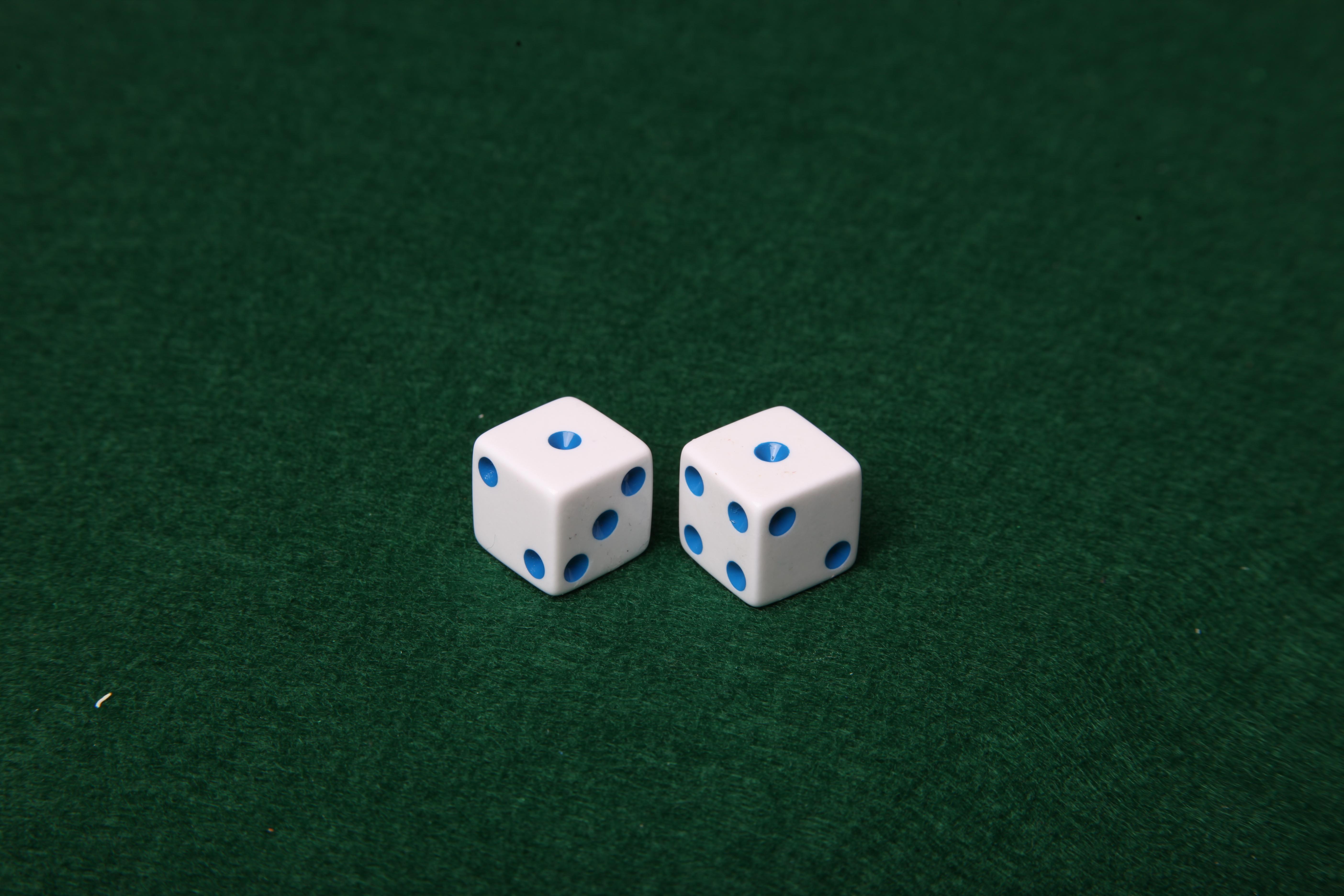 Dice on green felt table, Addiction, Bet, Dice, Felt, HQ Photo
