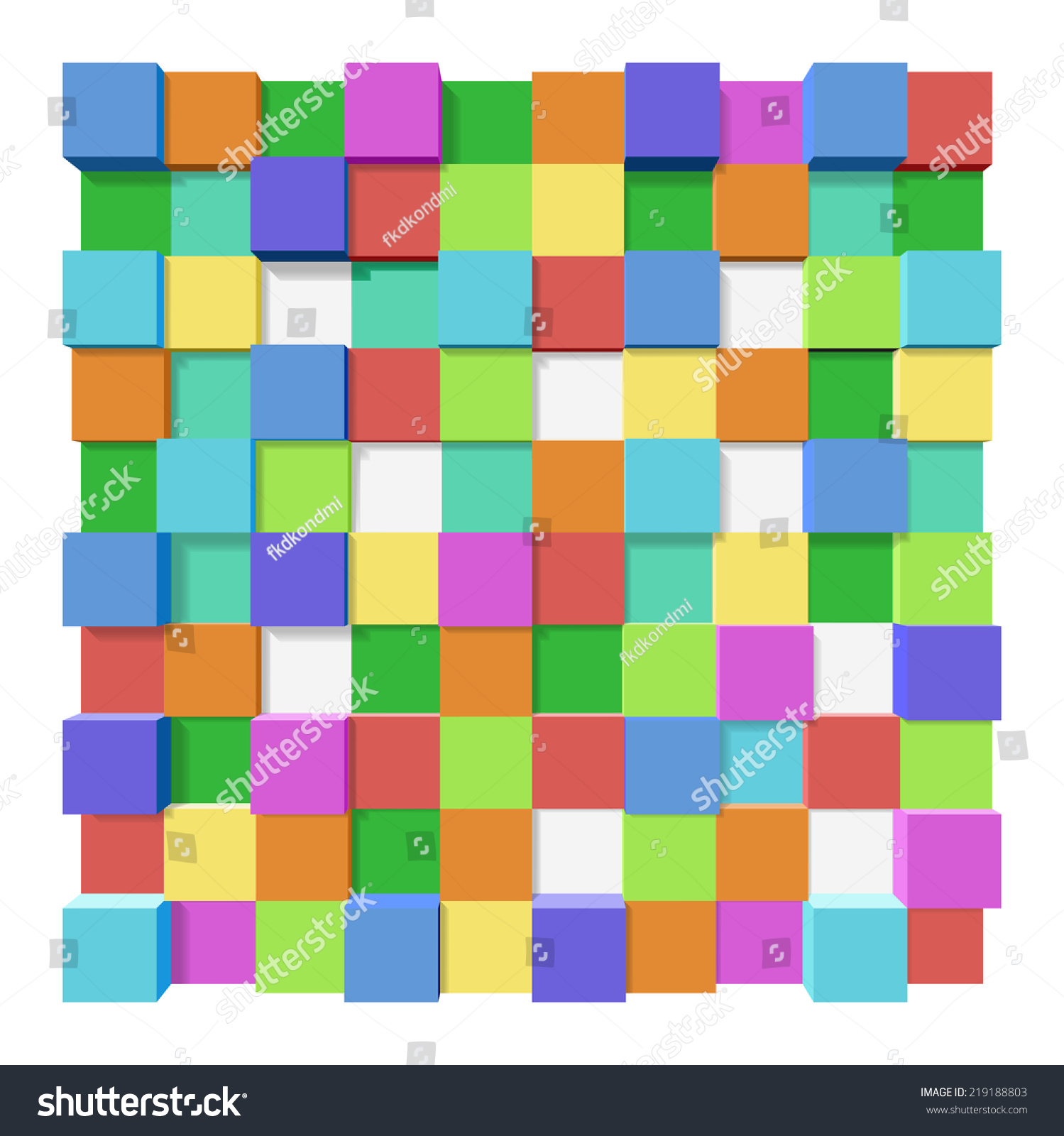 Colored Blocks Different Levels Abstract Background Stock ...