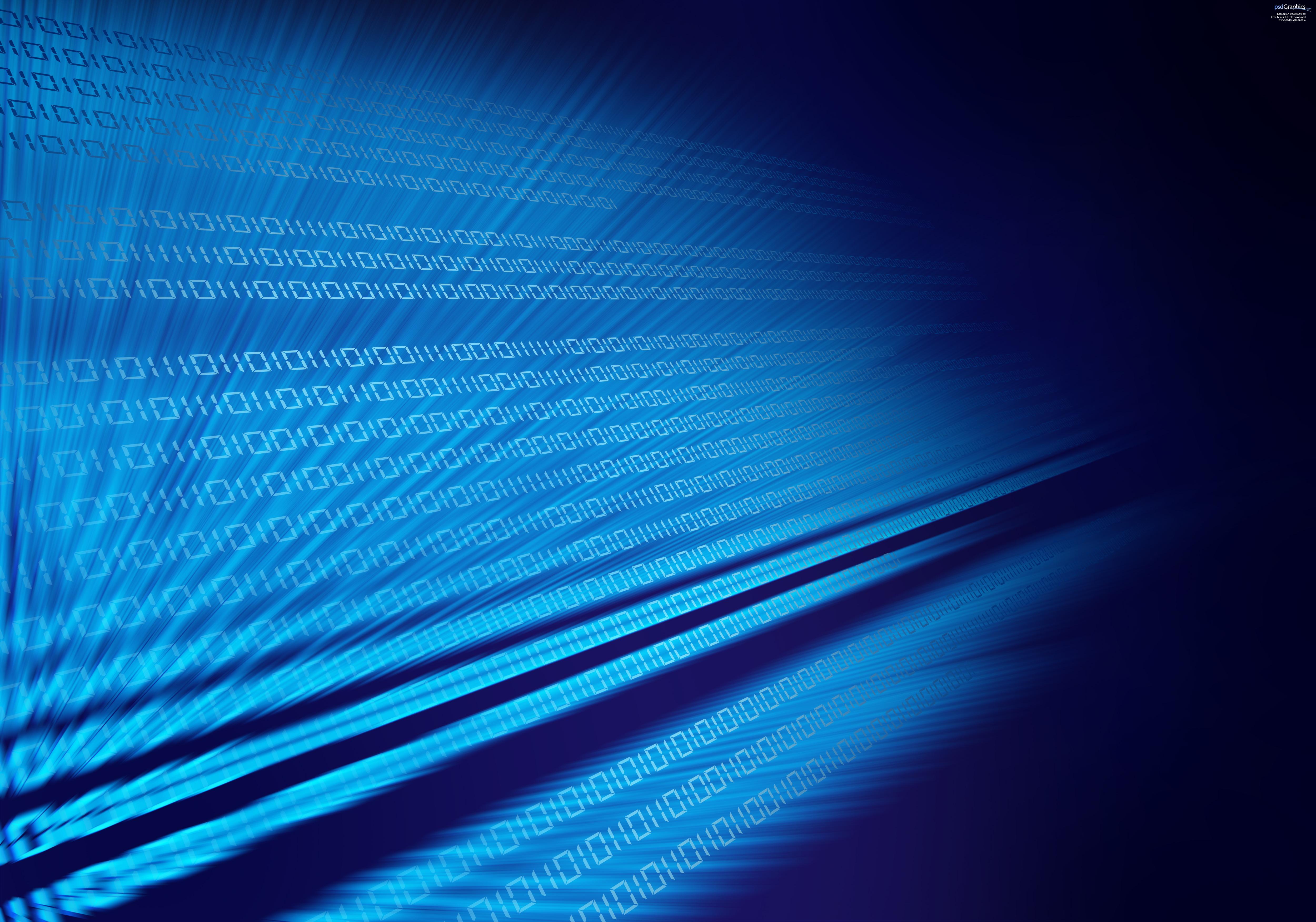Blue binary code, digital background | PSDGraphics