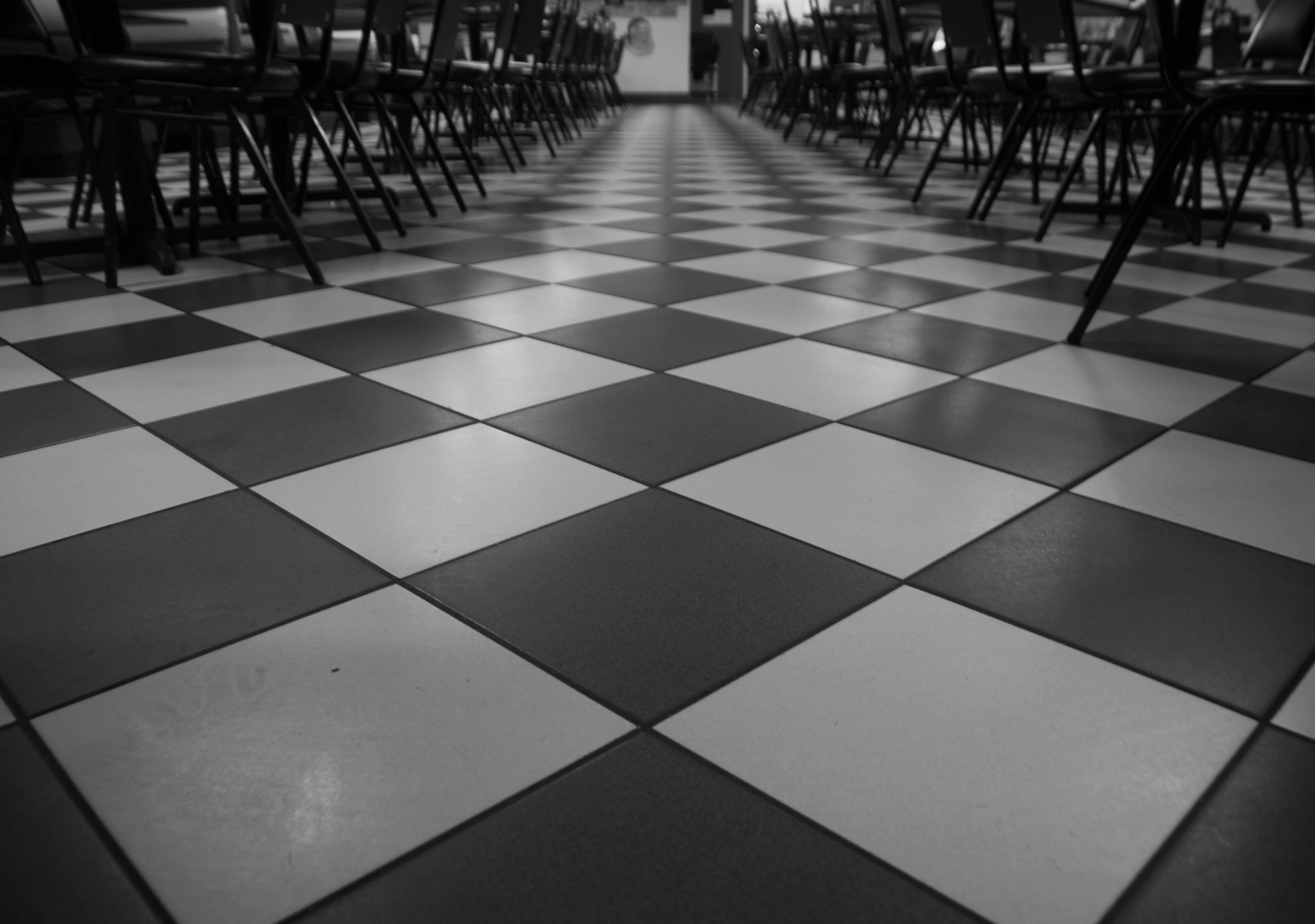Diner Floor, Symmetrical, Tiles, Restaurant, Diner, HQ Photo