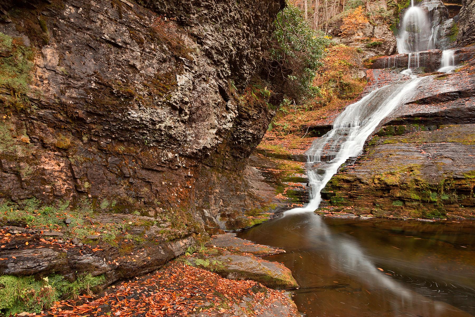 Dingmans Autumn Falls, America, Pour, Scene, Rugged, HQ Photo