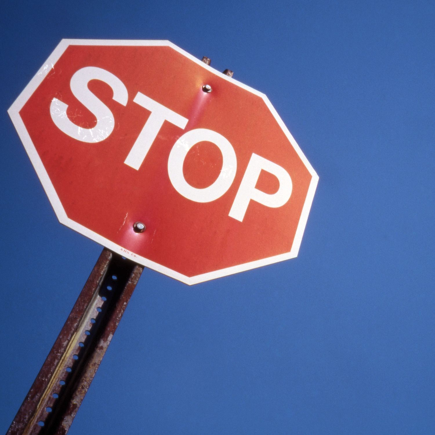 Dirty stop sign photo