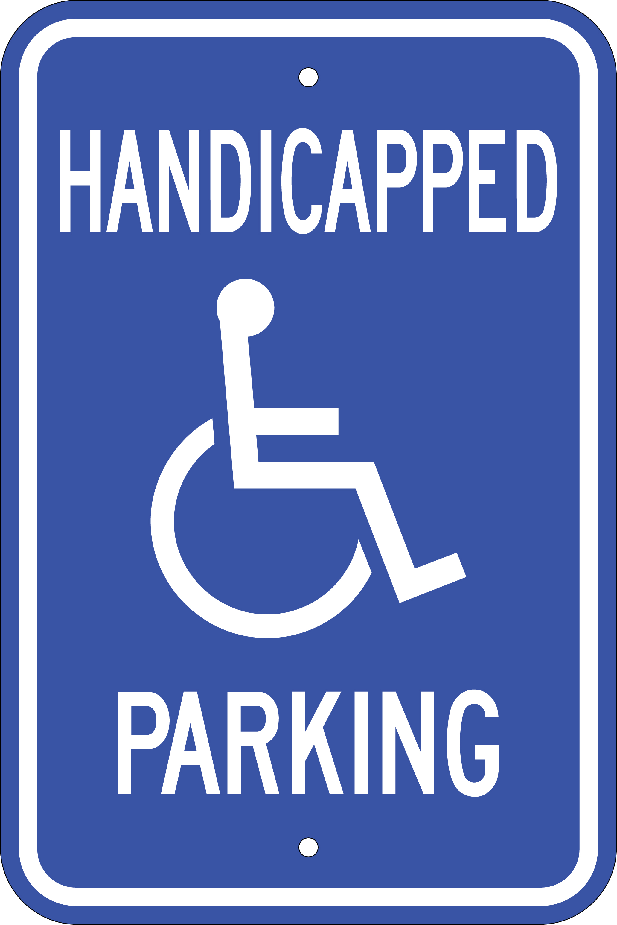 Handicap Parking Sign - The Sign Store