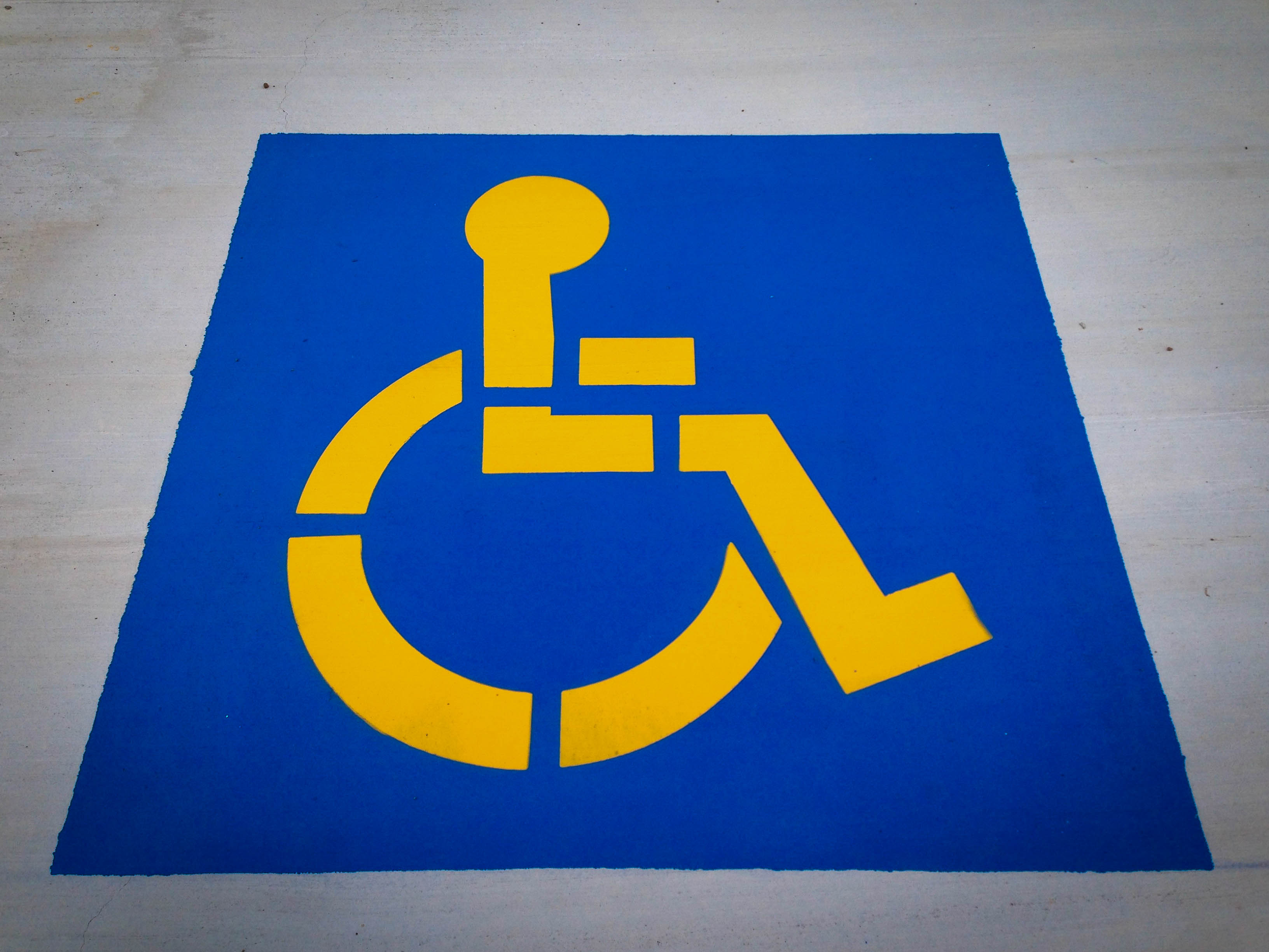 Disabled parking sign, Sign, Medicine, Paint, Painted, HQ Photo