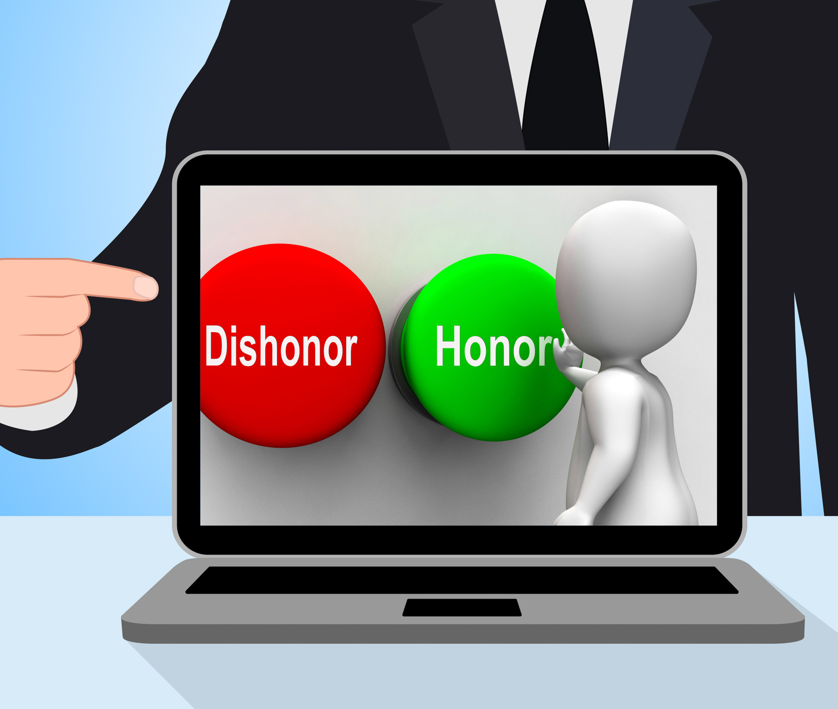 Dishonor honor buttons displays integrity and morals photo