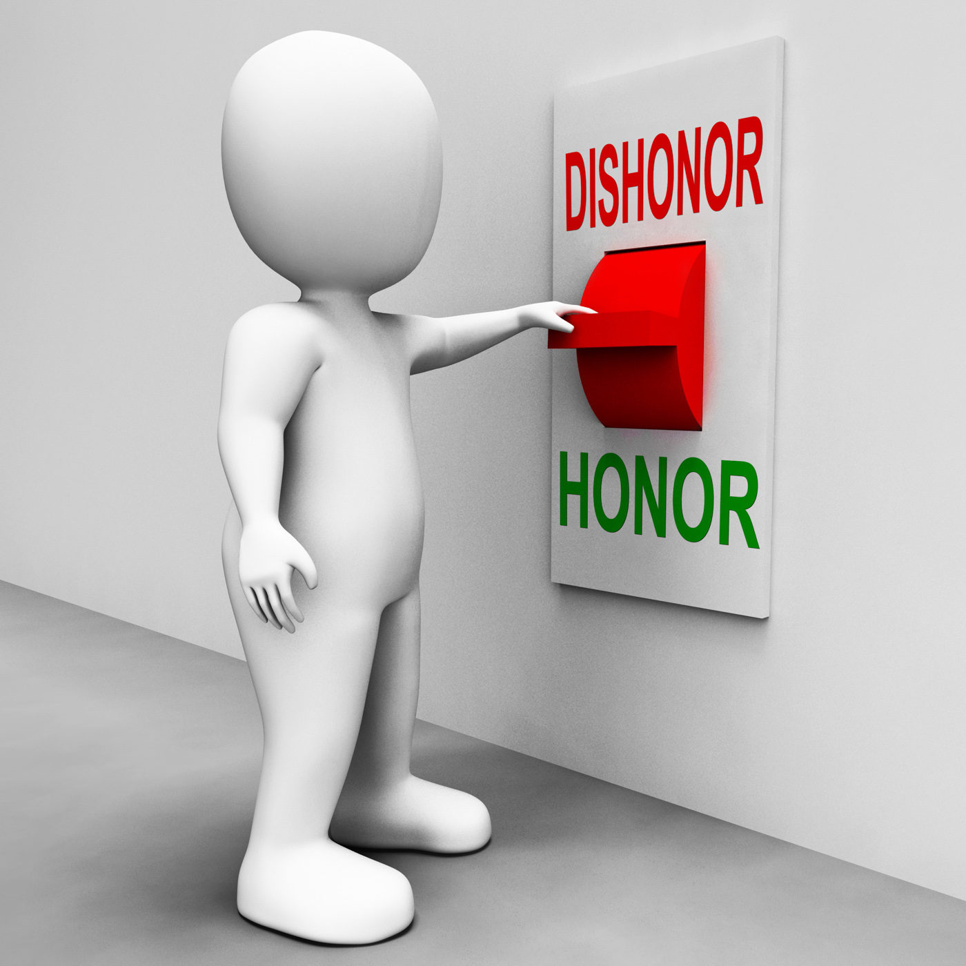 Dishonor honor switch shows integrity and morals photo