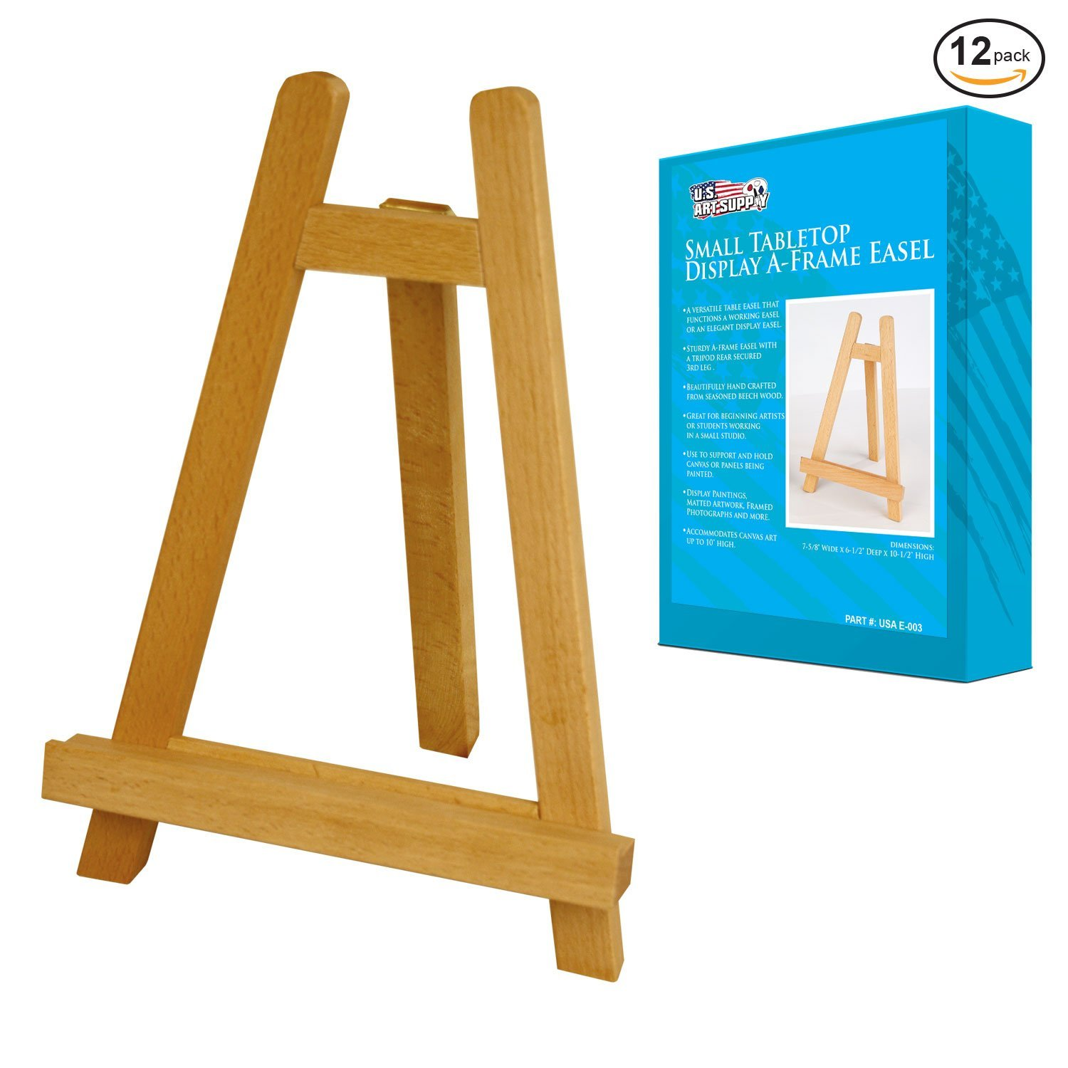Amazon.com: US Art Supply CARMEL Small 10-1/2 inch Tabletop Wood ...