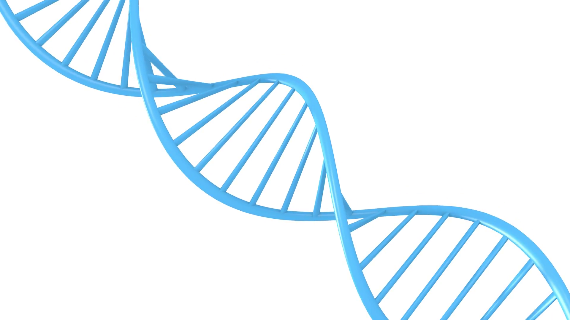 Genetic data string concept of a blue double helix DNA molecule ...