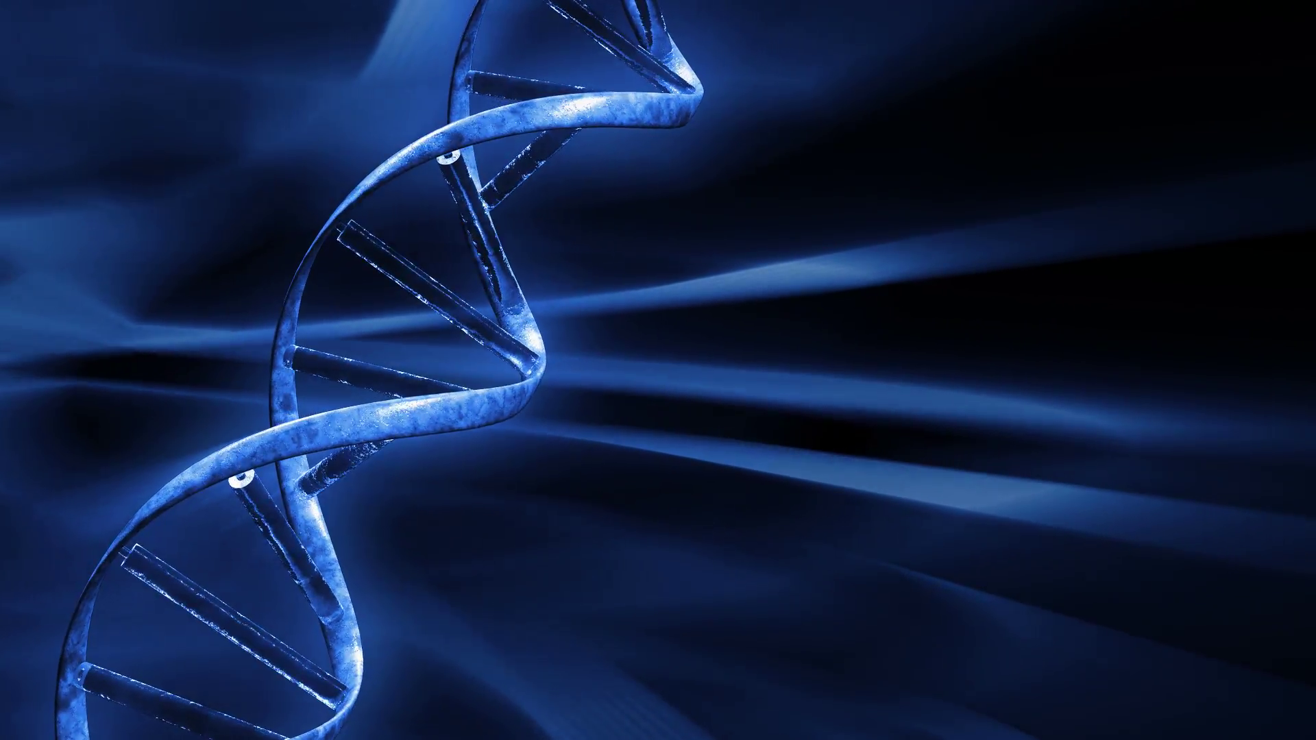 Blue FX Background with rotating DNA string,seamless loop Motion ...