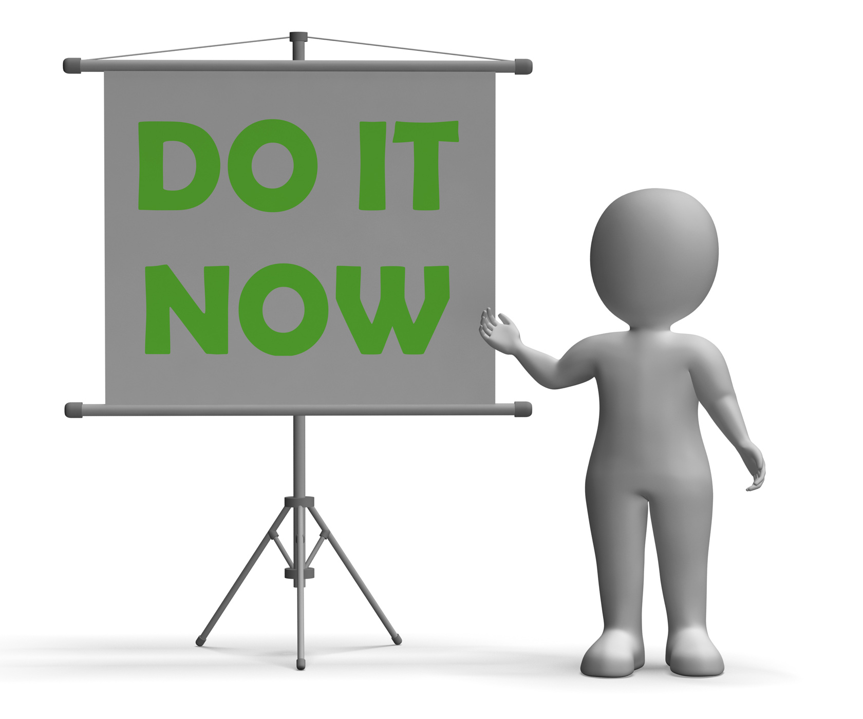 Do it now board shows giving advice photo