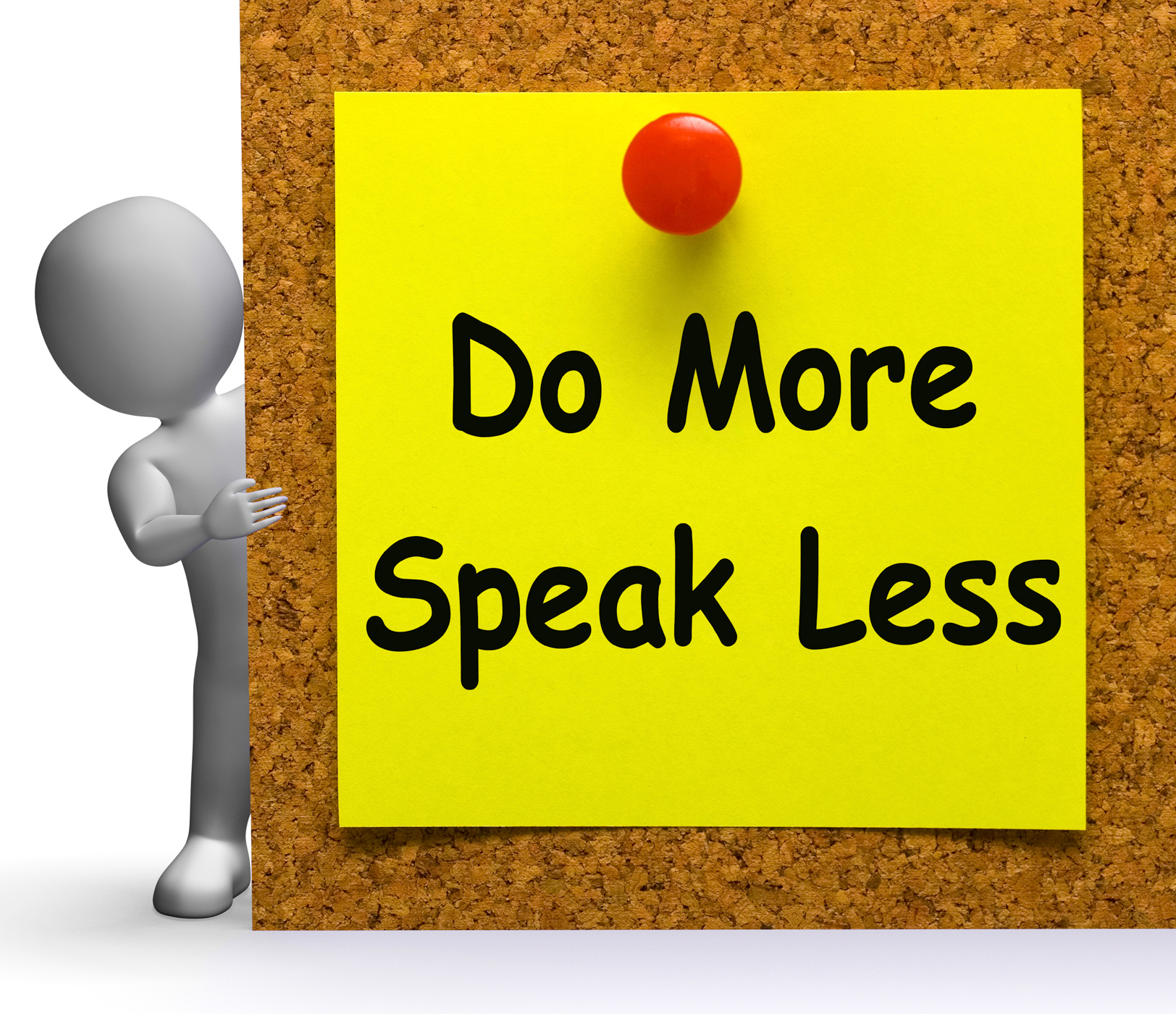Do More Speak Less Note Means Be Productive Or Constructive, Do, Inspirational, Less, More, HQ Photo