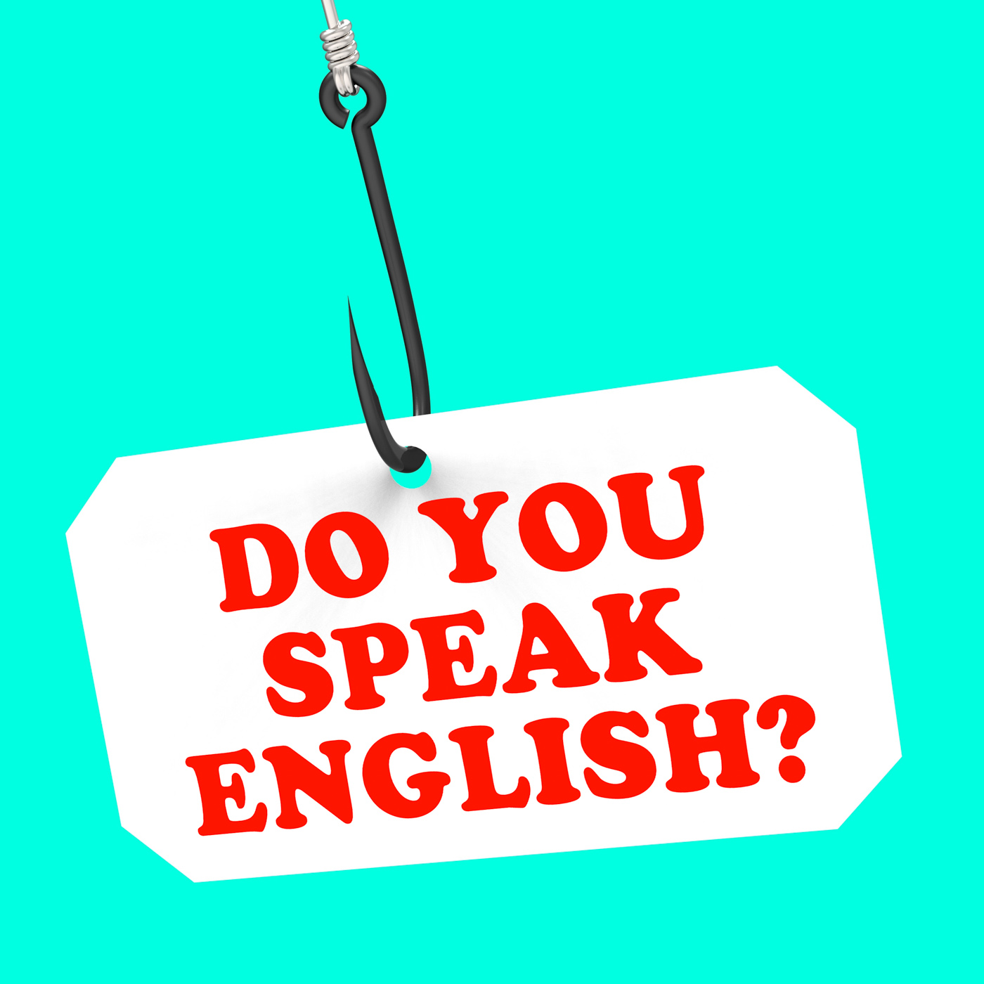 Do you speak english on hook means foreign language learning photo