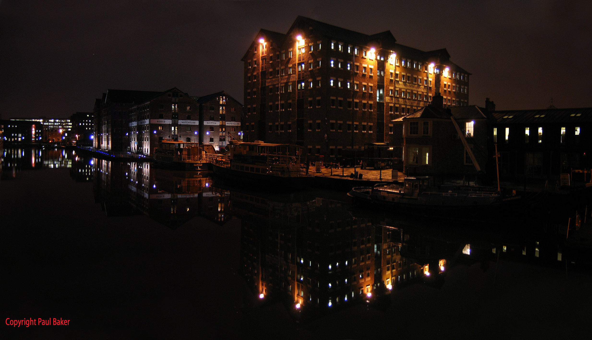 Docks at night photo