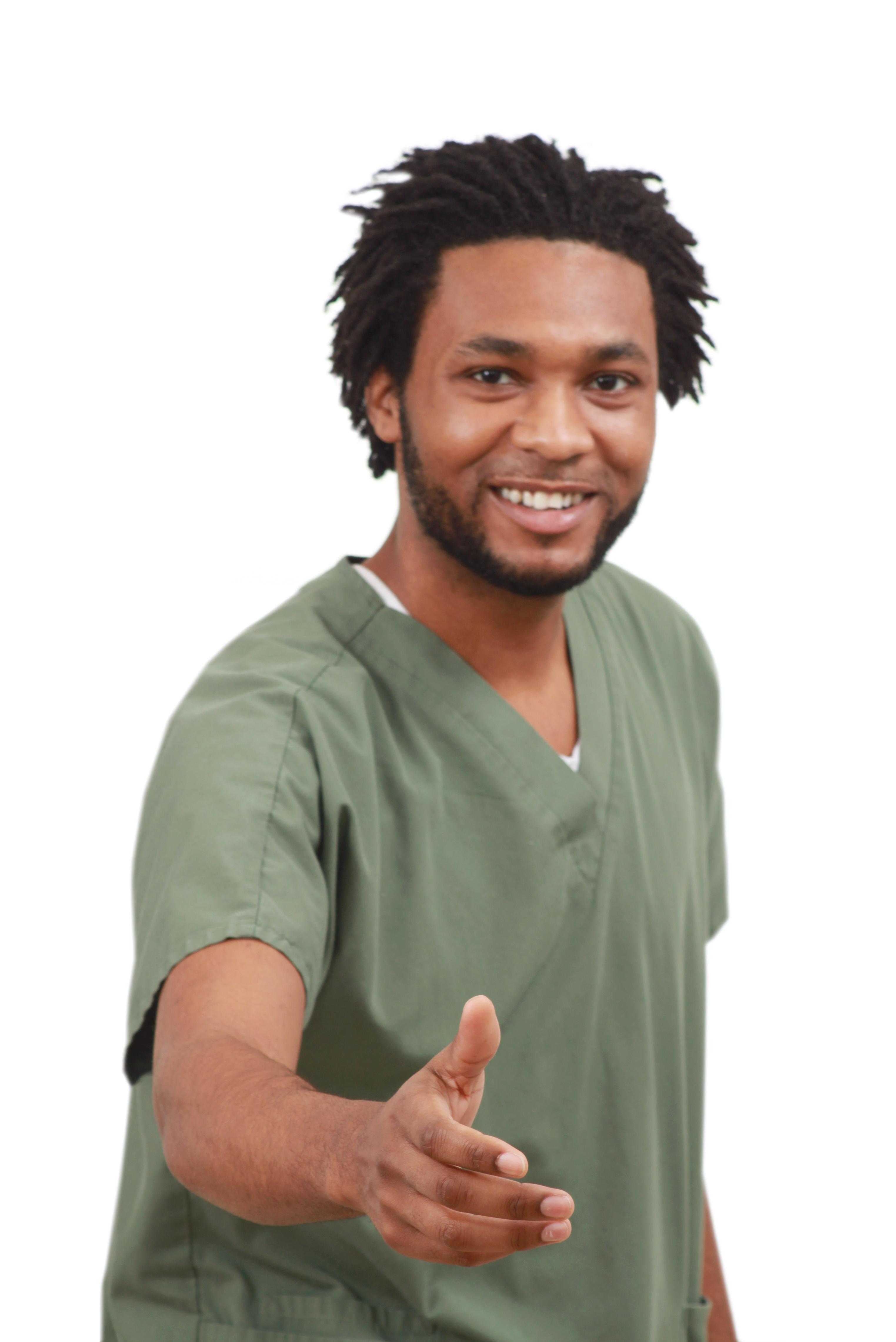 free photo doctor saying hello man medical nurse free