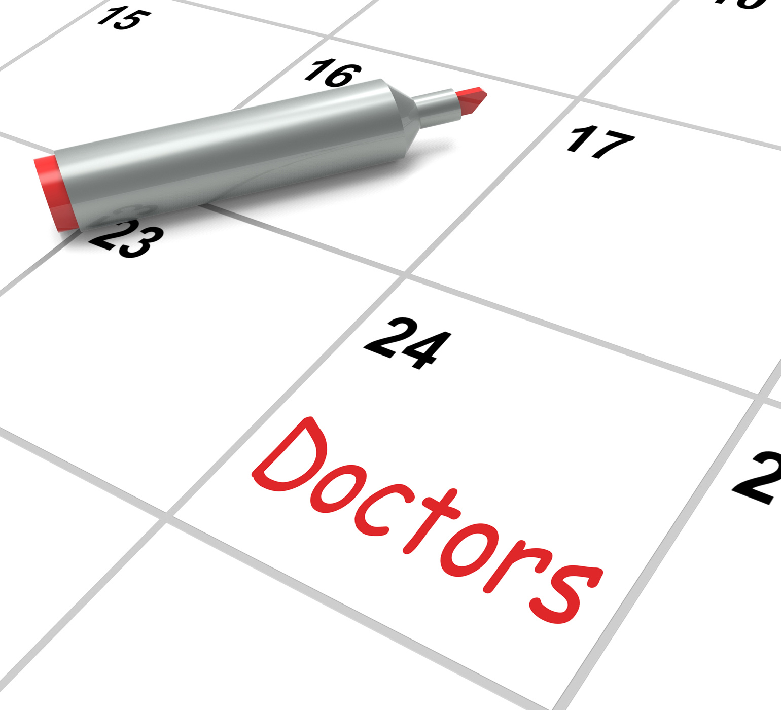 Doctors calendar means medical consultation and prescriptions photo