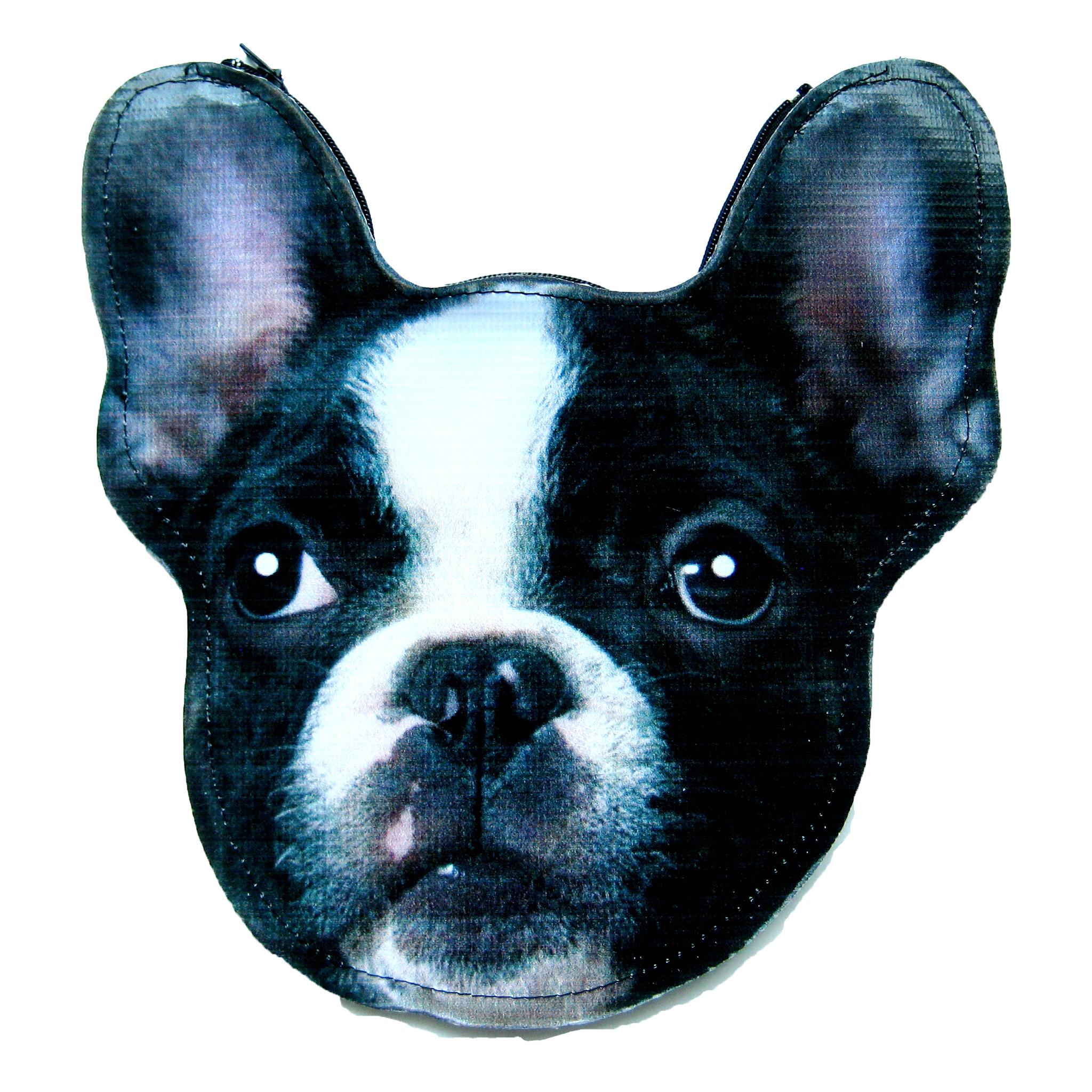 French Bulldog Puppy Dog Head Shaped Vinyl Animal Themed Clutch Bag ...