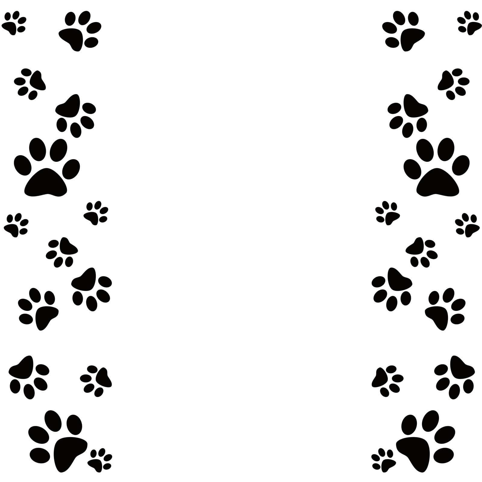 Free photo: Dog Paw Border - Graphic, Paws, Border - Free Download ...