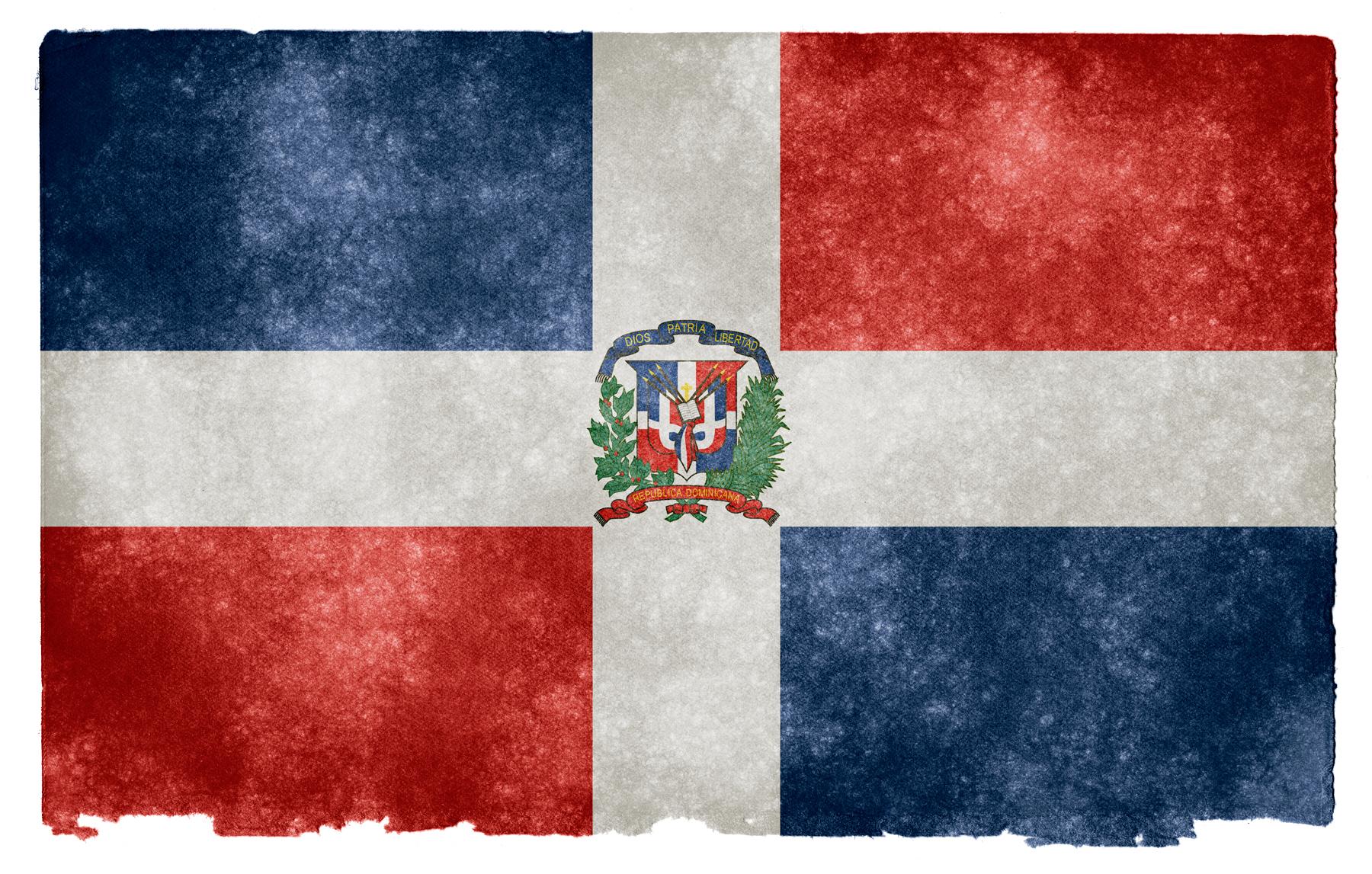 Dominican republic grunge flag photo