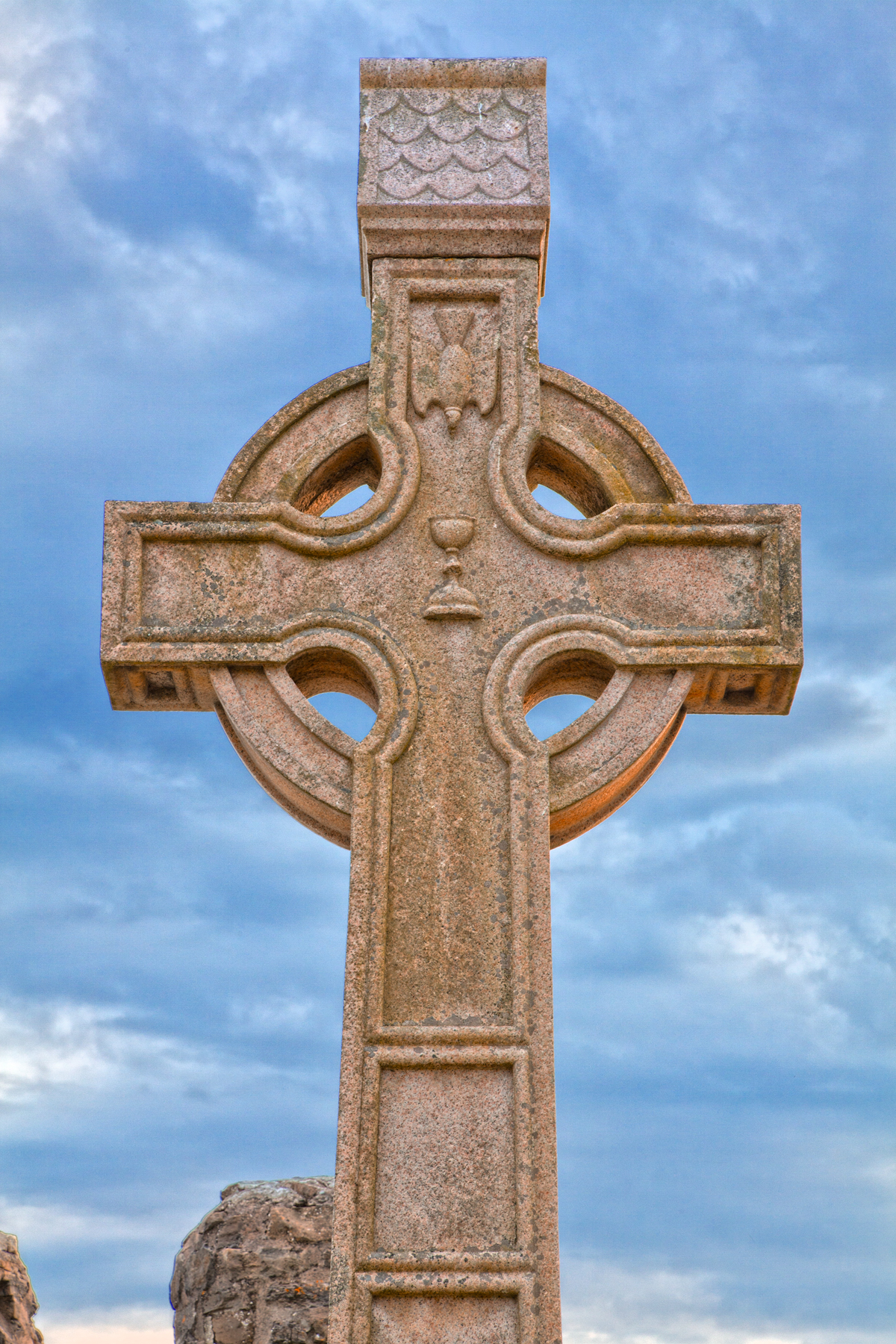 Donegal cemetery celtic cross - hdr photo