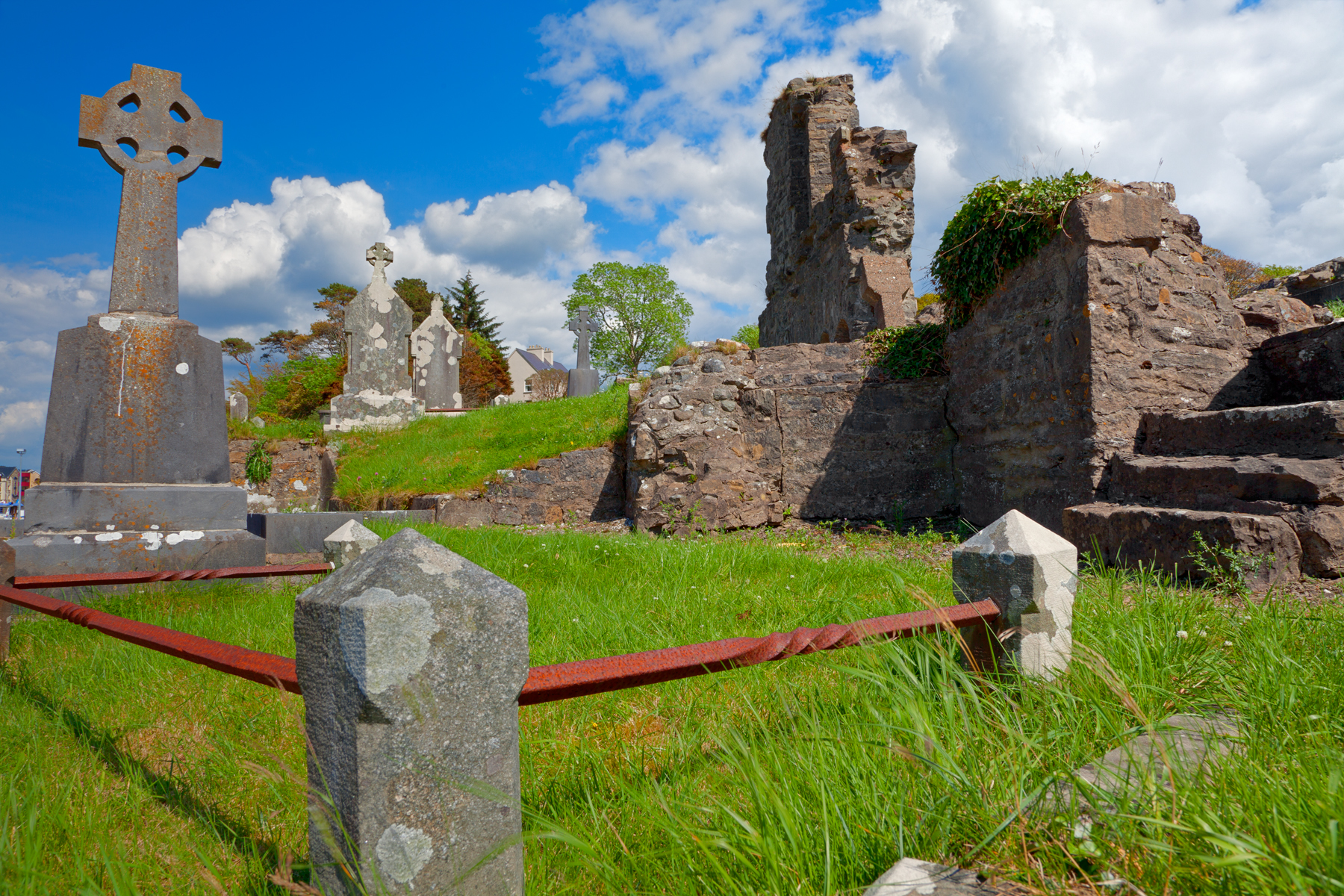 Donegal Cemetery - HDR, Picture, Religious, Religion, Red, HQ Photo