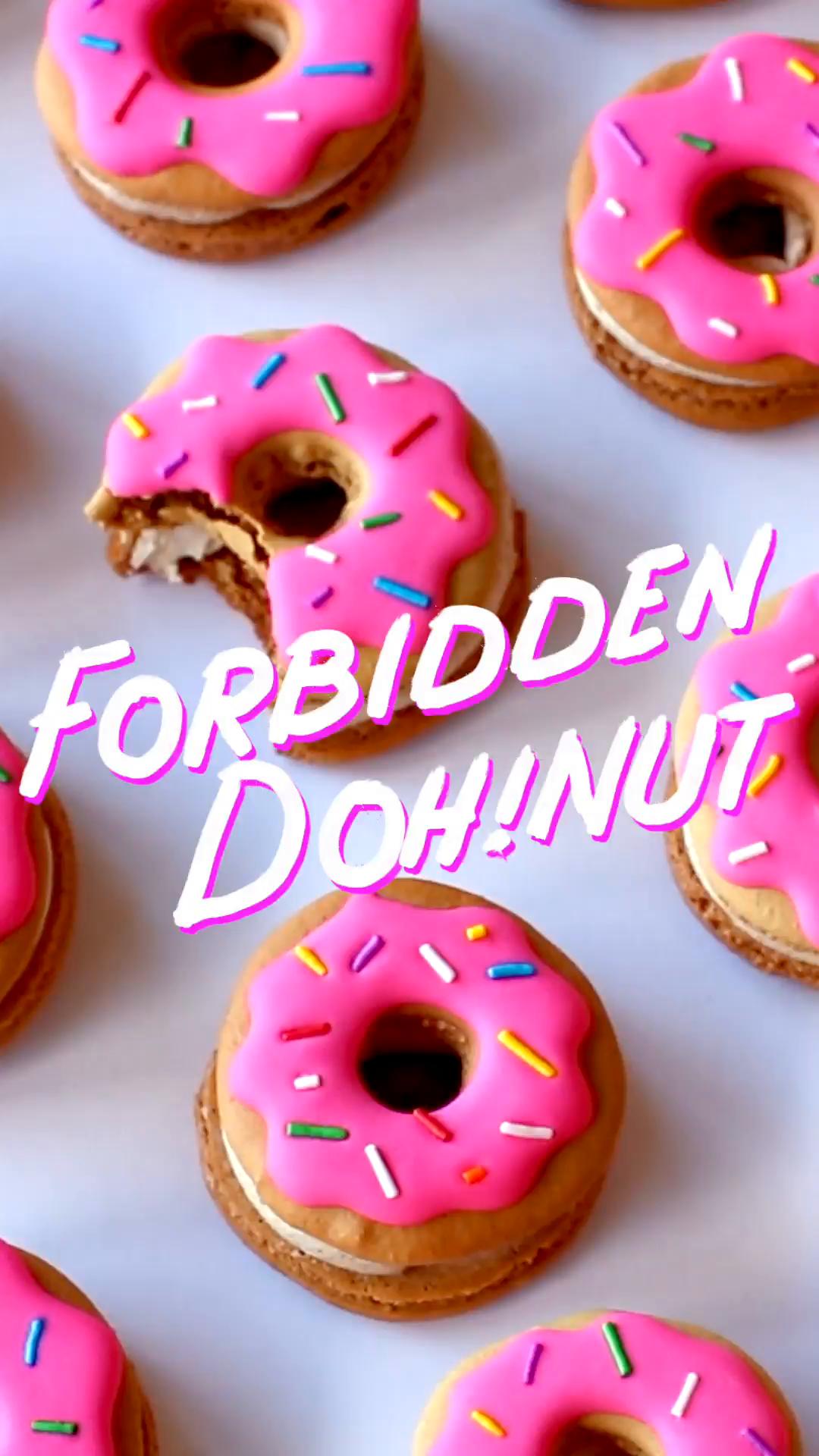 Donut Macarons ~ Recipe   Tastemade
