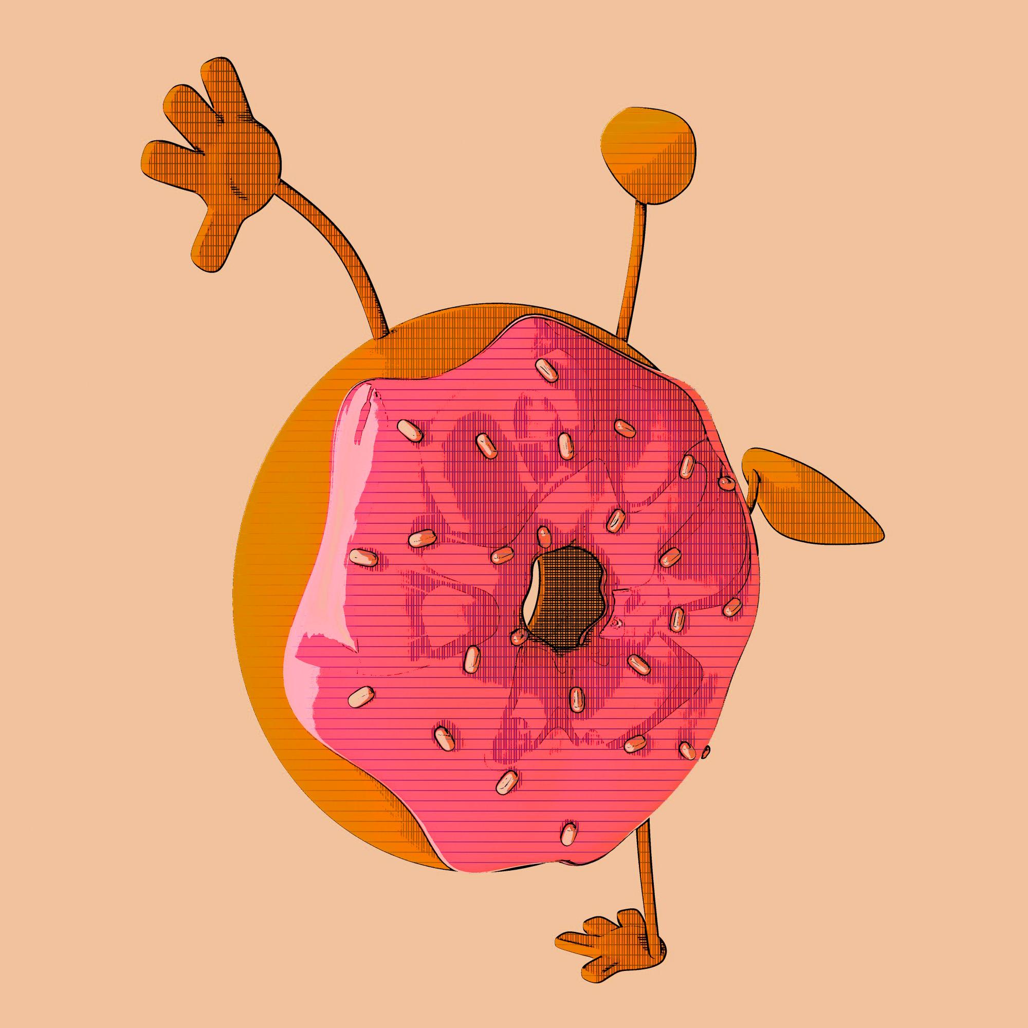 Donut, 3d, Eat, Treat, Tasty, HQ Photo